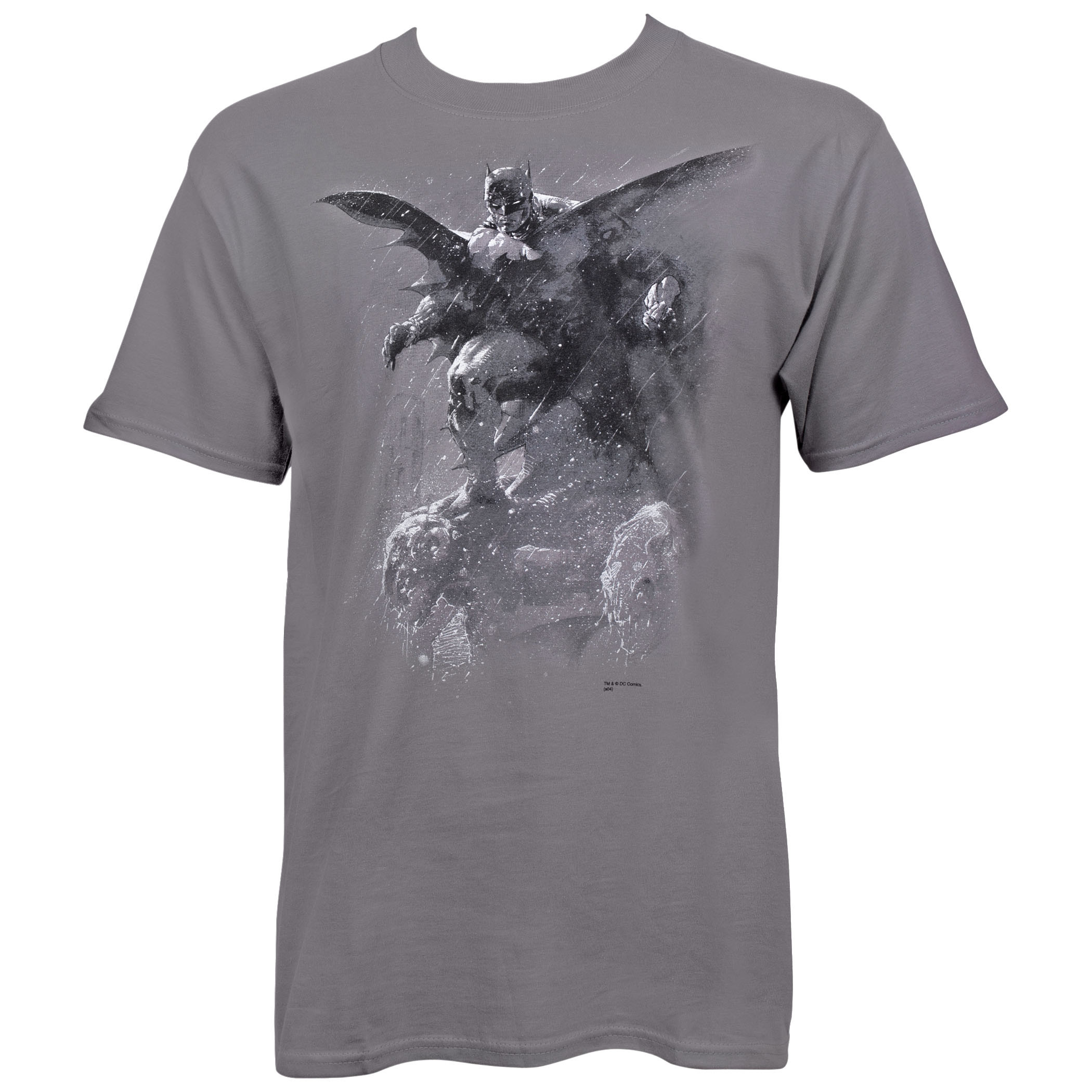 Batman Grey Hush Paint by Jim Lee T-Shirt
