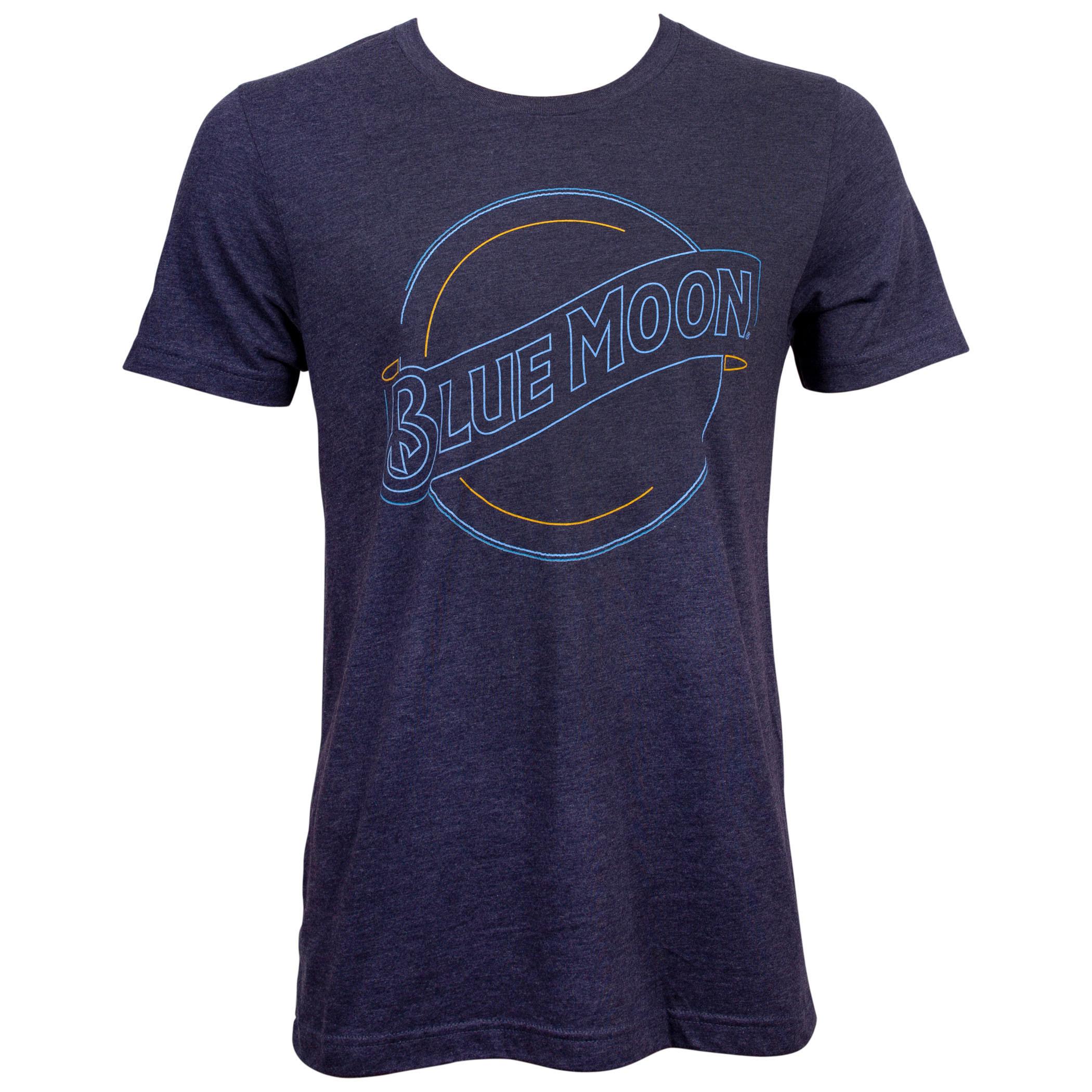 Blue Moon Neon Light Logo T-Shirt