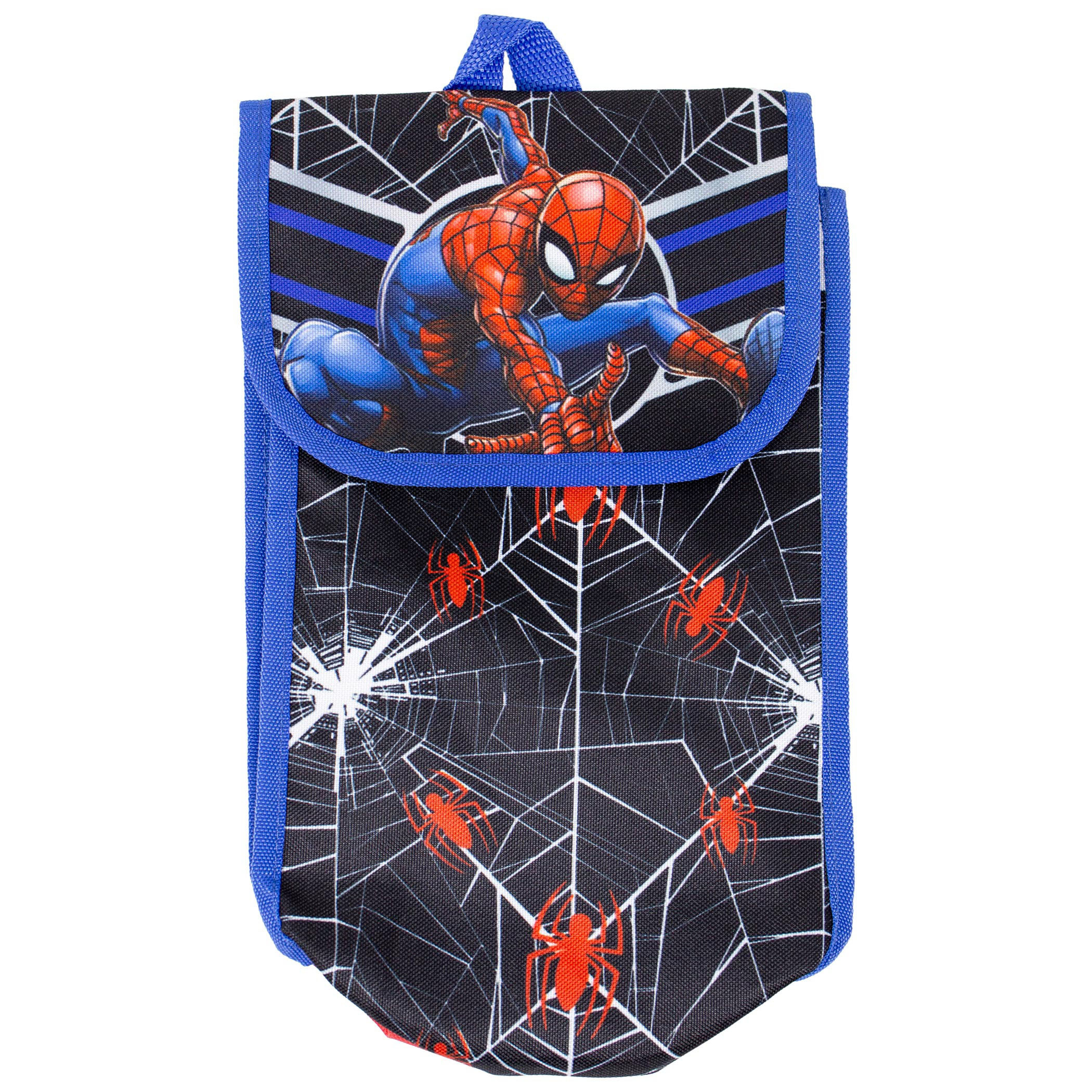 Spider-Man Backpack, Lunch Bag, Water Bottle 5-Piece Combo Set