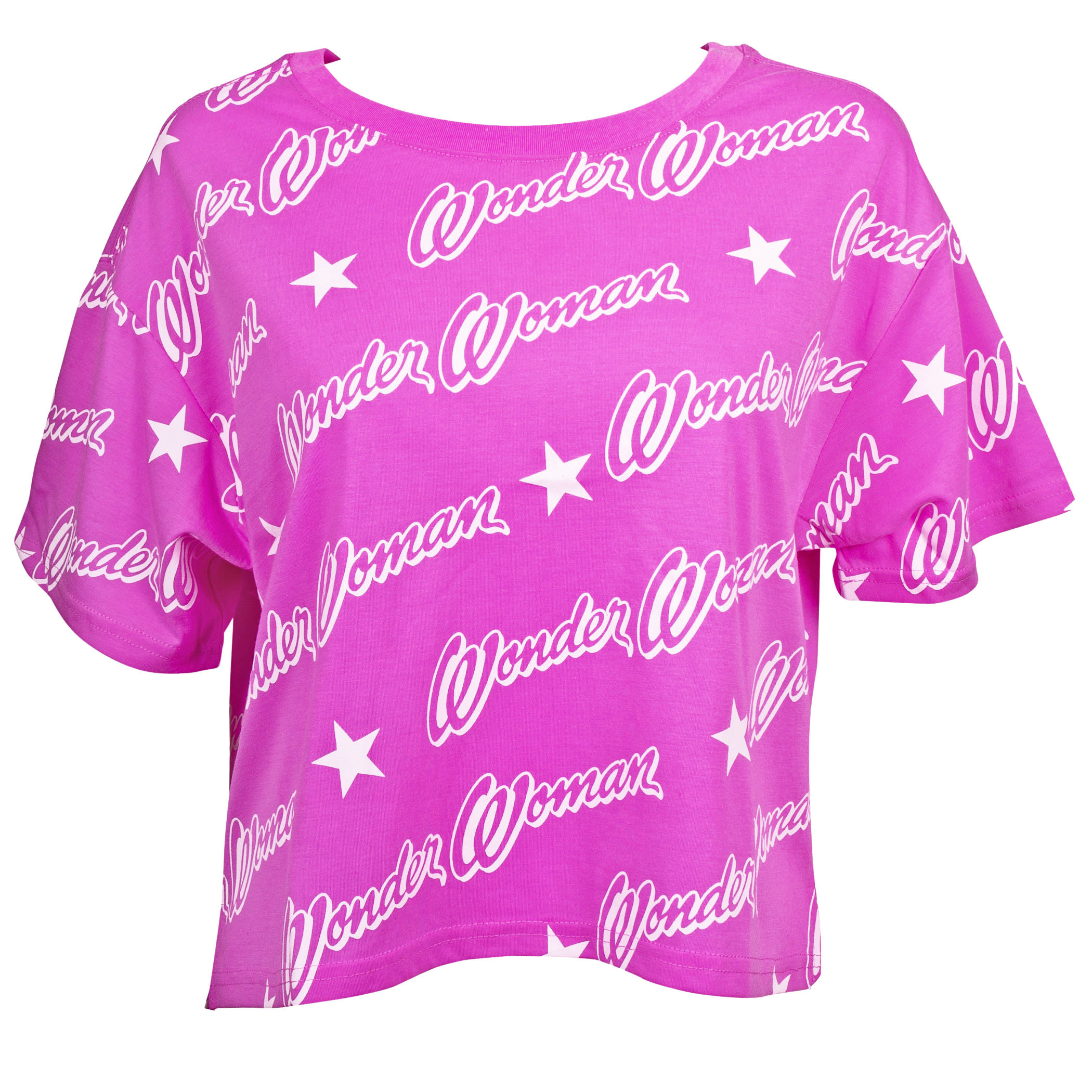 Wonder Woman Logo Step Hem Women's T-Shirt