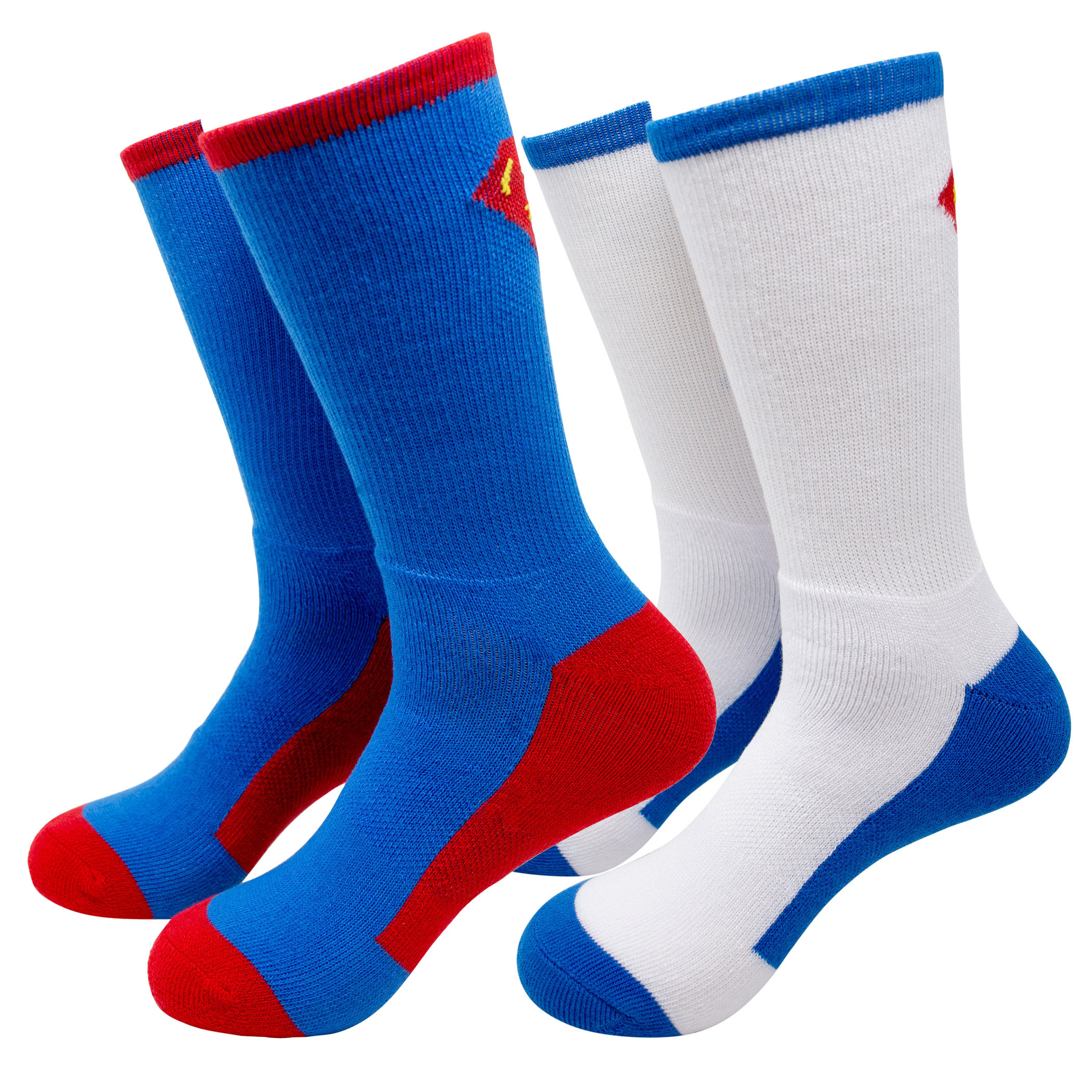 Superman 2-Pack Athletic Kids Socks