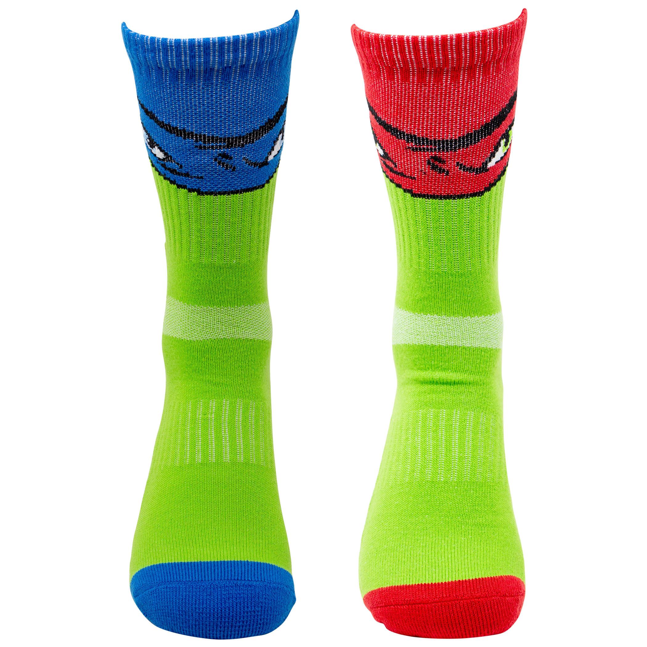 Teenage Mutant Ninja Turtles 2-Pack Athletic Kids Socks