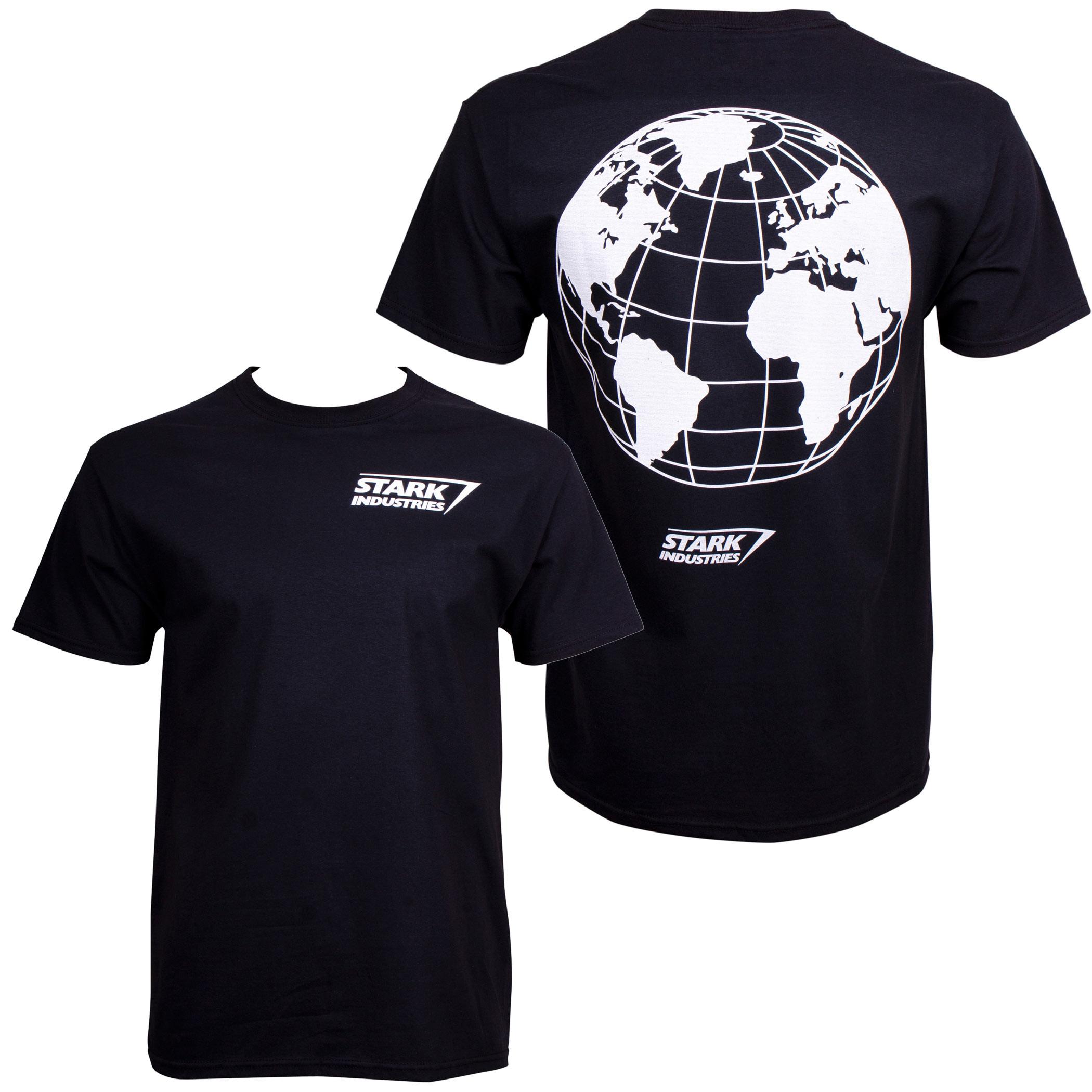 Iron Man Stark Industries World Back Print T-Shirt