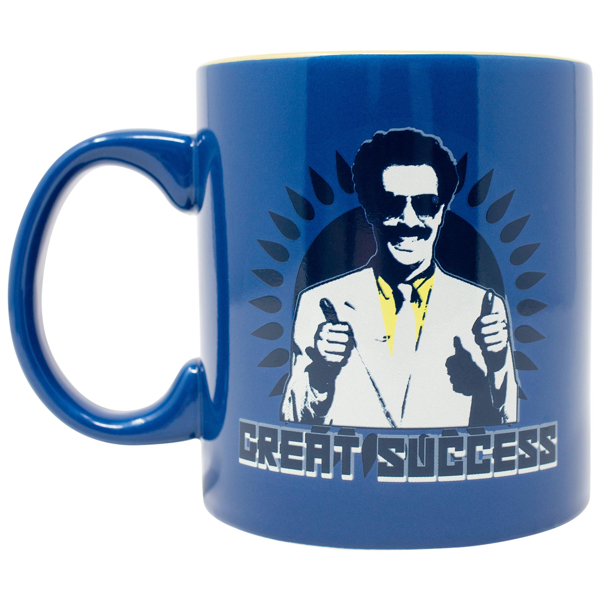 Borat 20 Ounce Ceramic Great Success Blue Mug