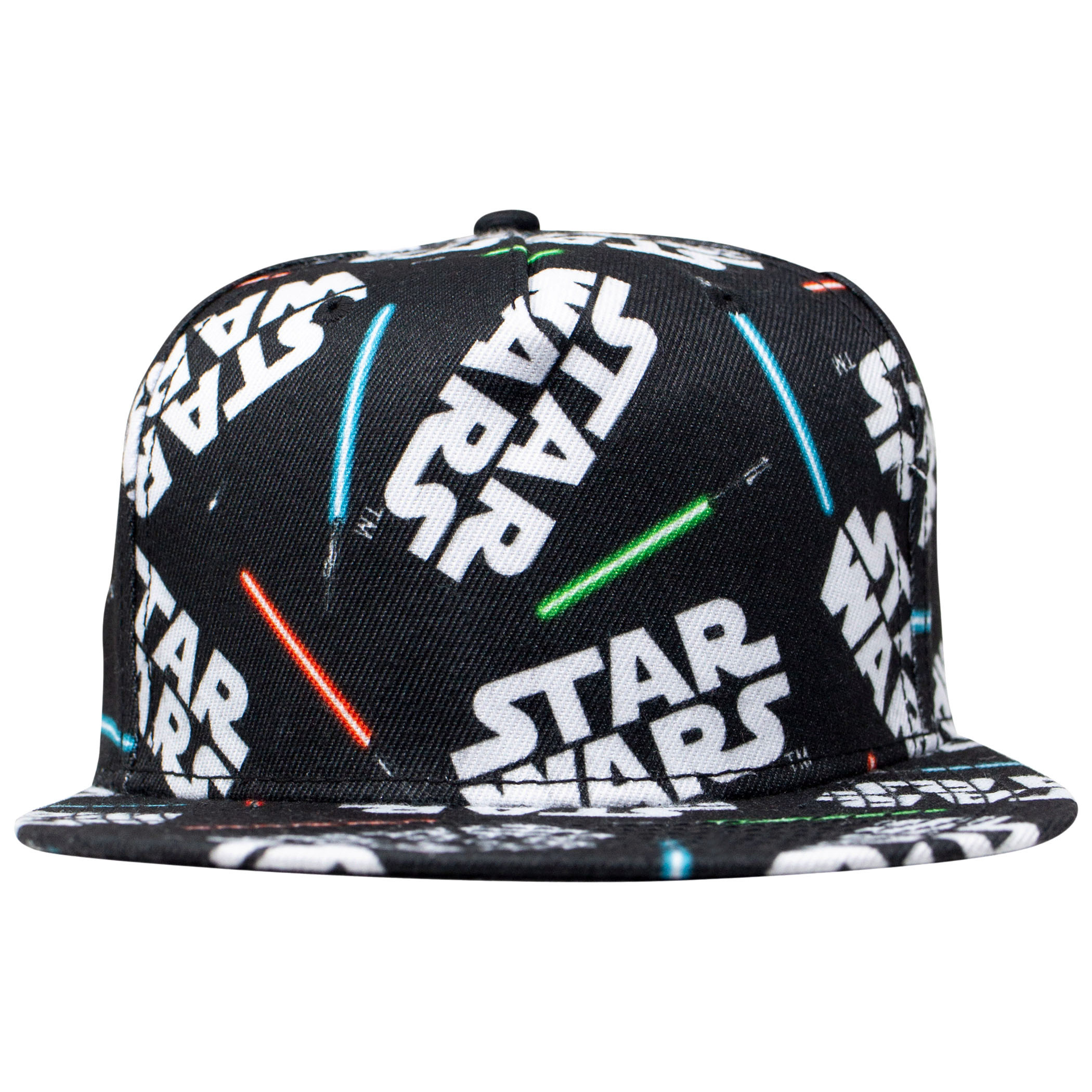 Star Wars All Over Lightsaber Print Snapback Hat