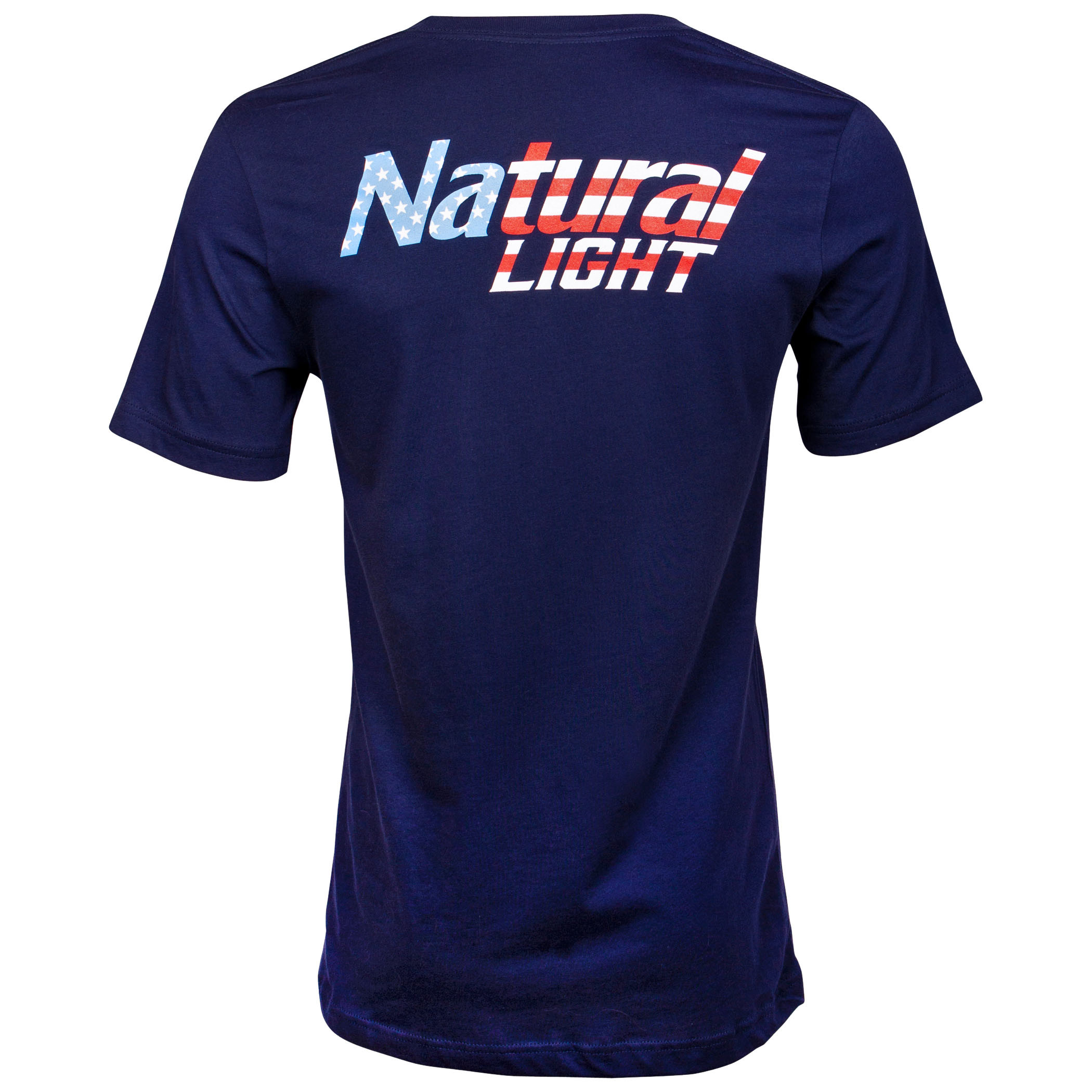 Natural Light Red White and Blue Logo T-Shirt