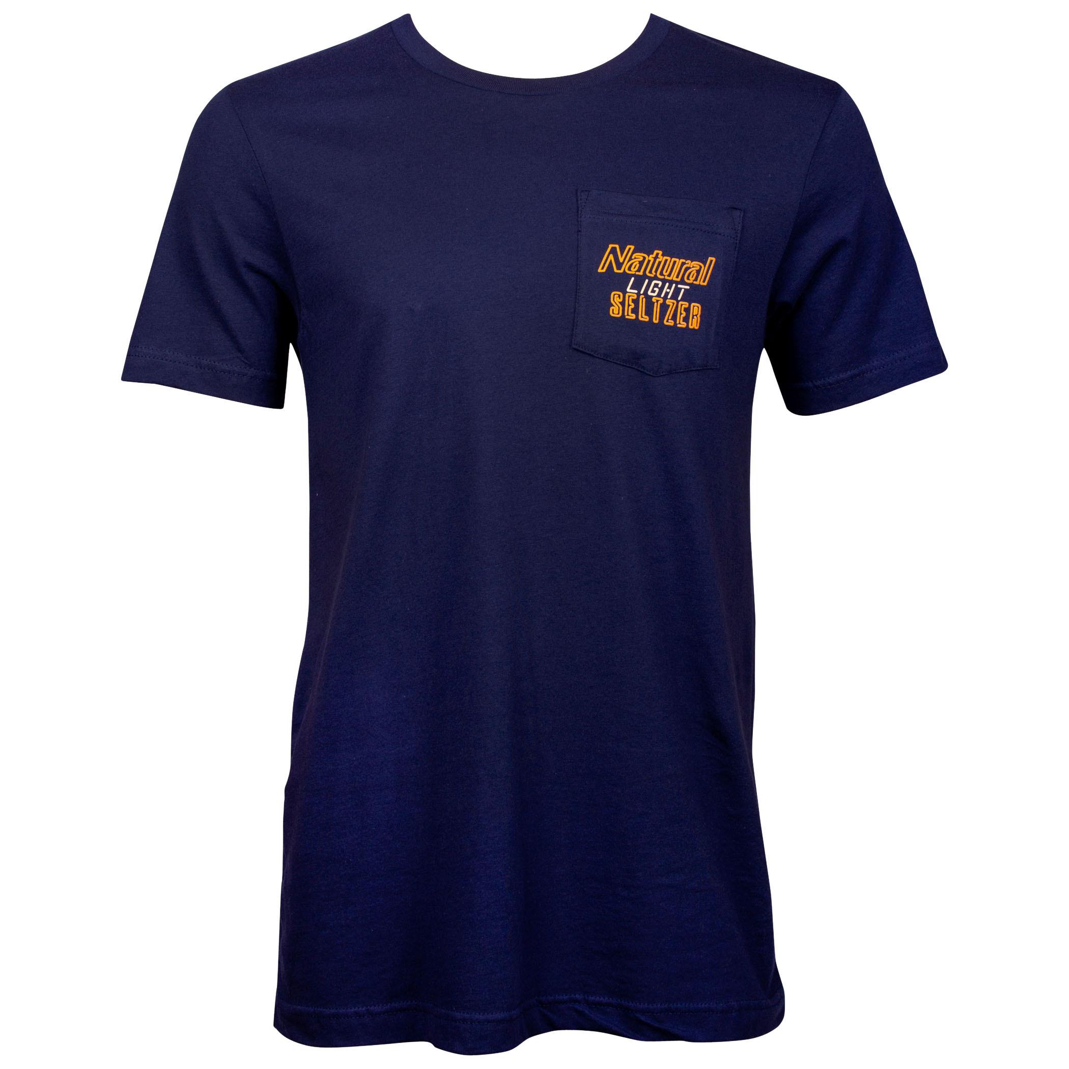 Natural Light Seltzer Pocket T-Shirt