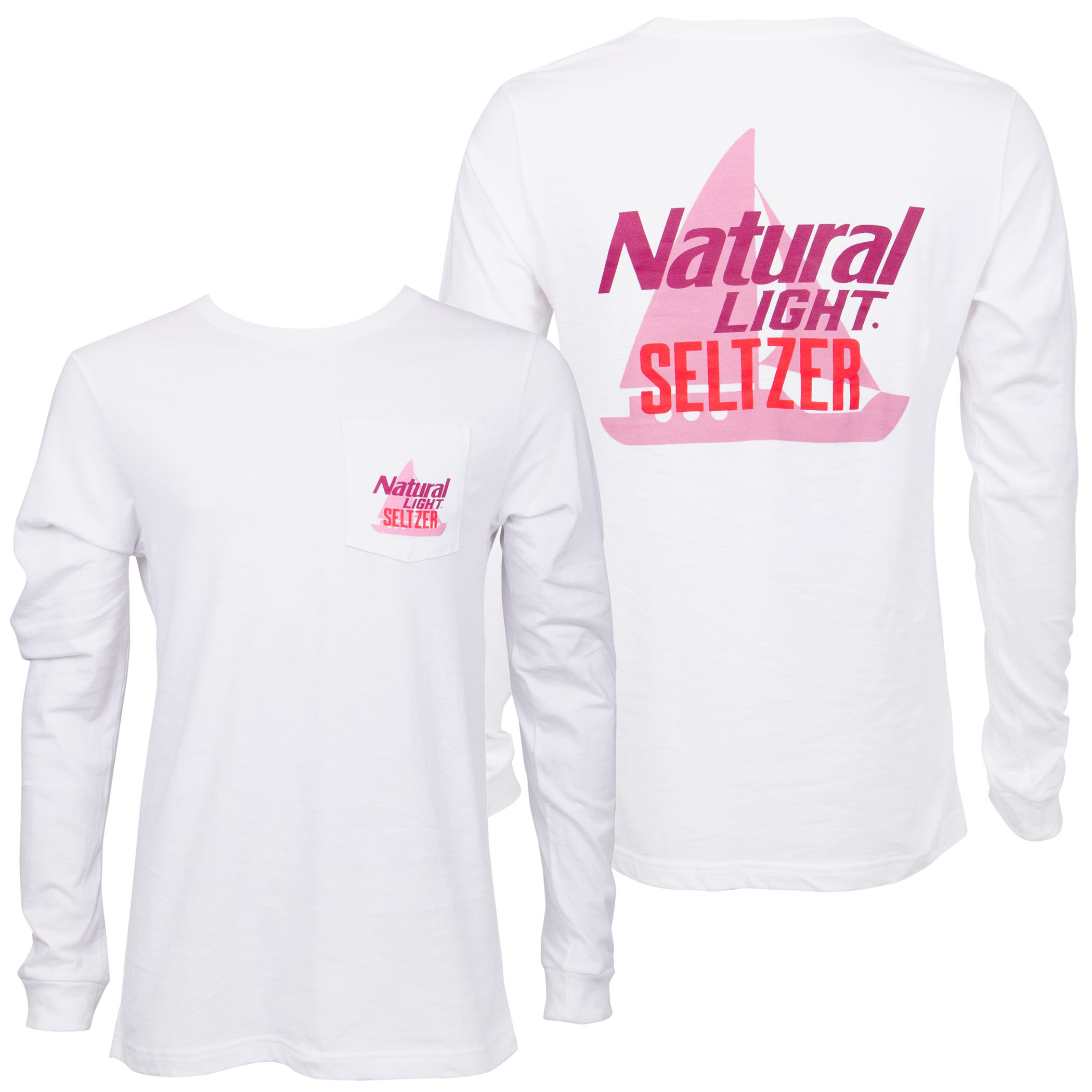 Natural Light Seltzer Boat Long Sleeve Pocket Shirt