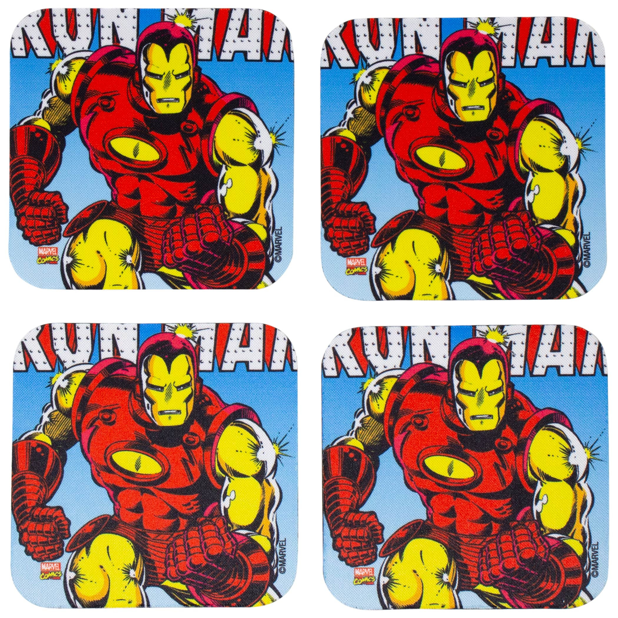 Marvel Iron Man 4-Piece Neoprene Coaster Set