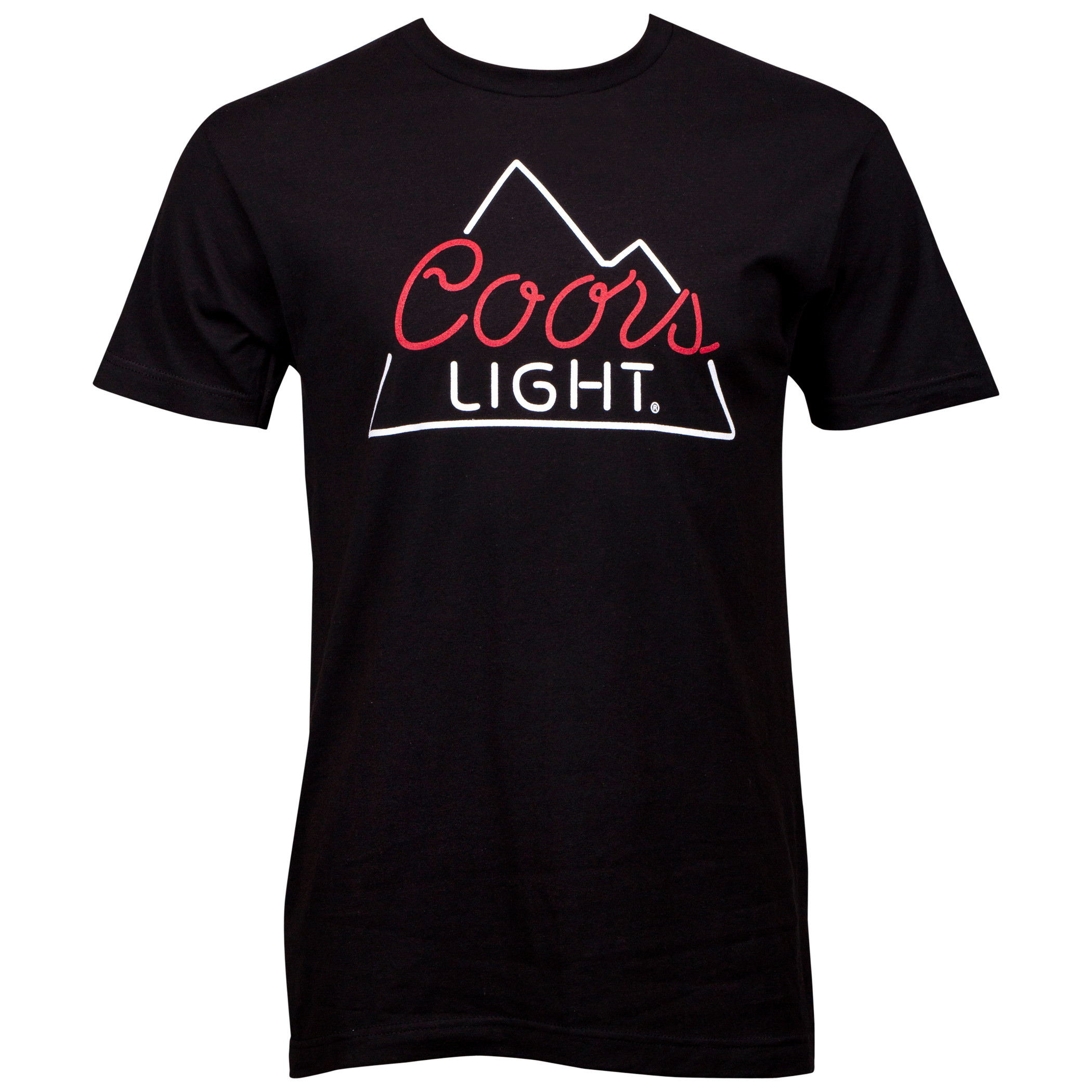 Coors Light Neon Sign Black T-Shirt
