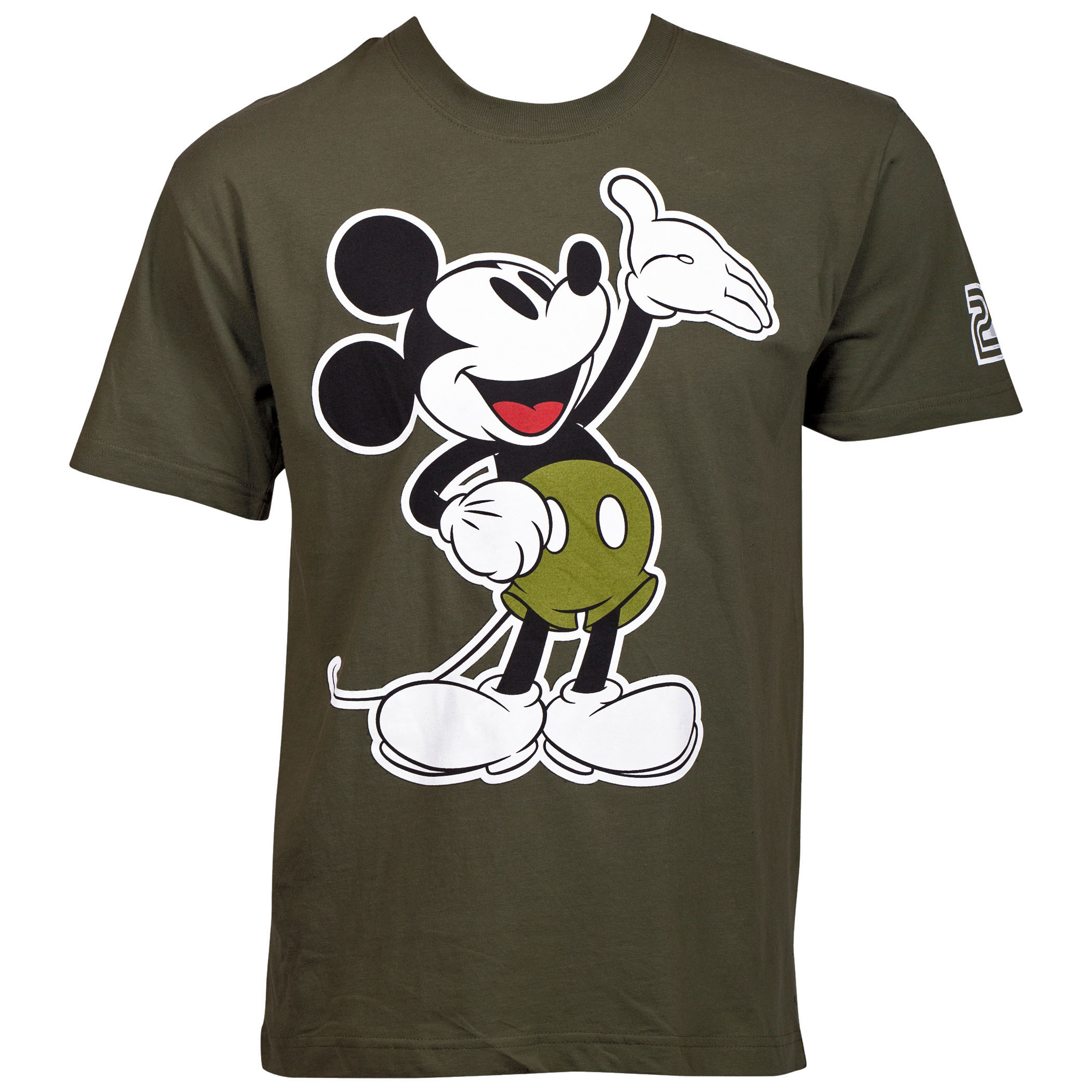 Mickey Mouse Army Green T-Shirt