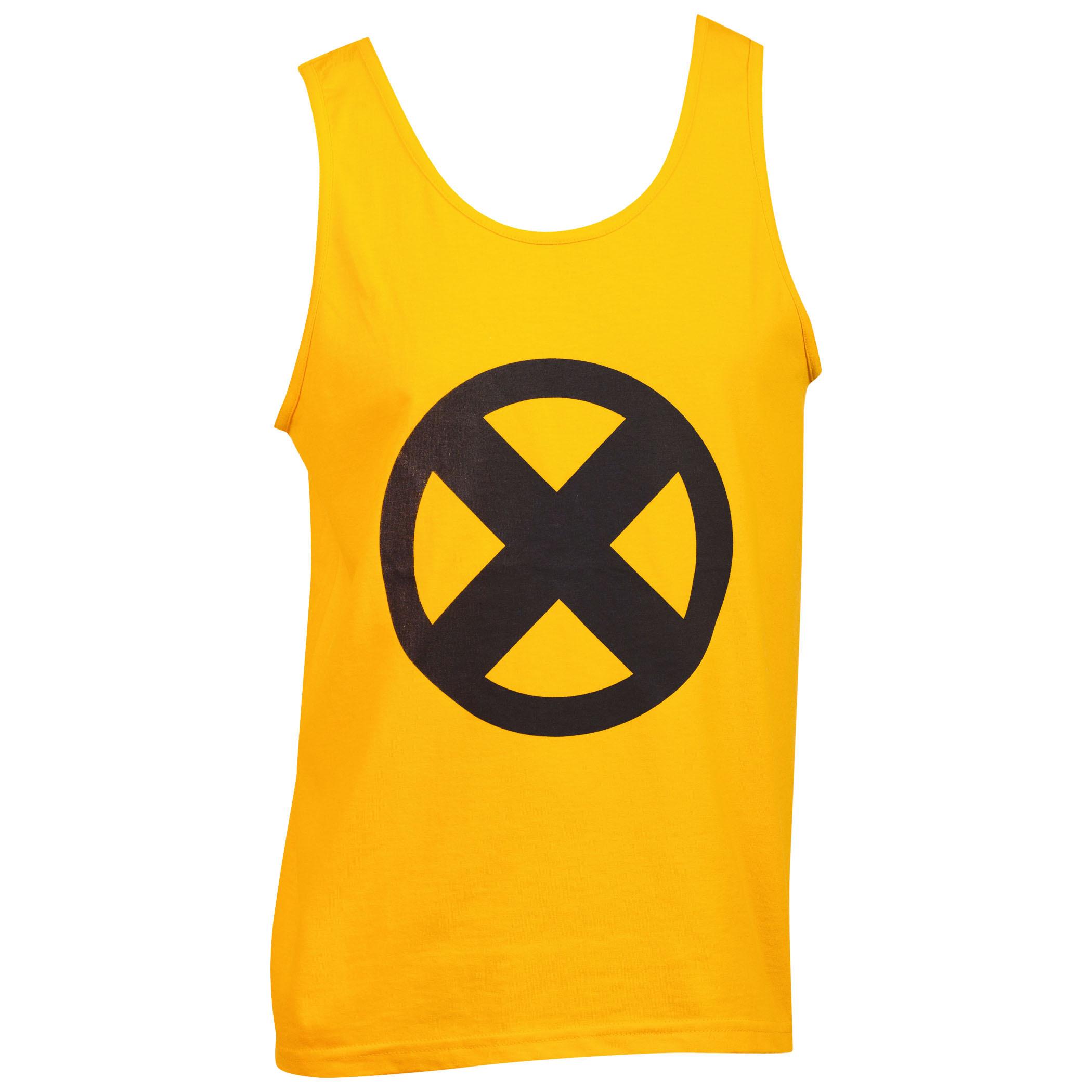 Marvel X-Men Symbol Logo Gold Tank Top