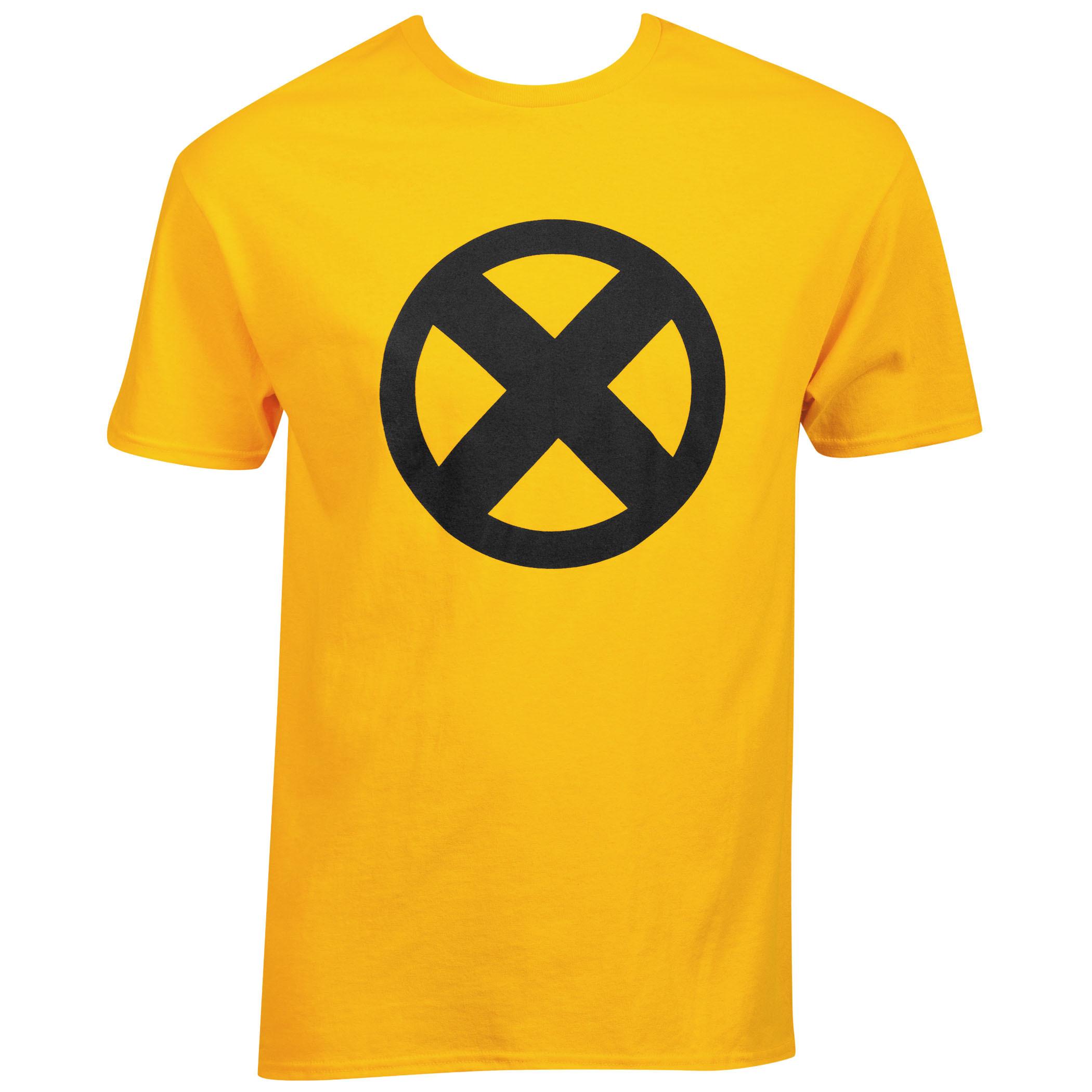 Marvel X-Men Symbol Logo Gold T-Shirt