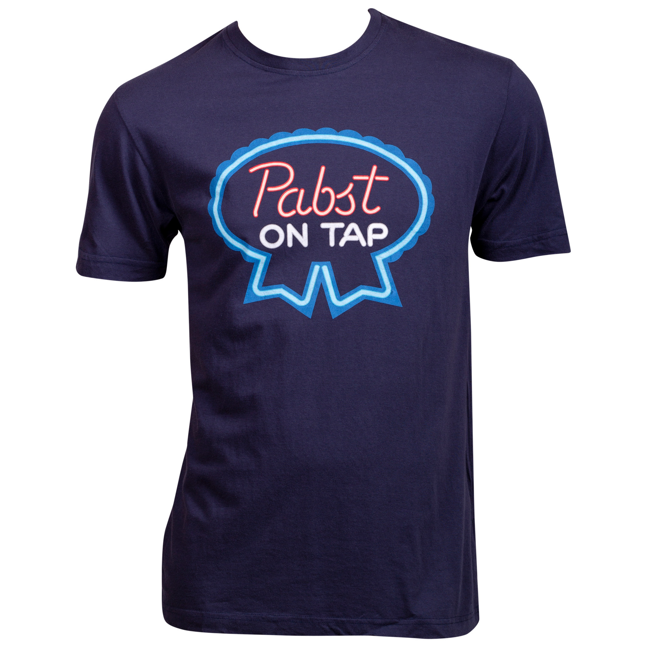 Pabst Blue Ribbon Beer PBR On Tap Blue T-Shirt