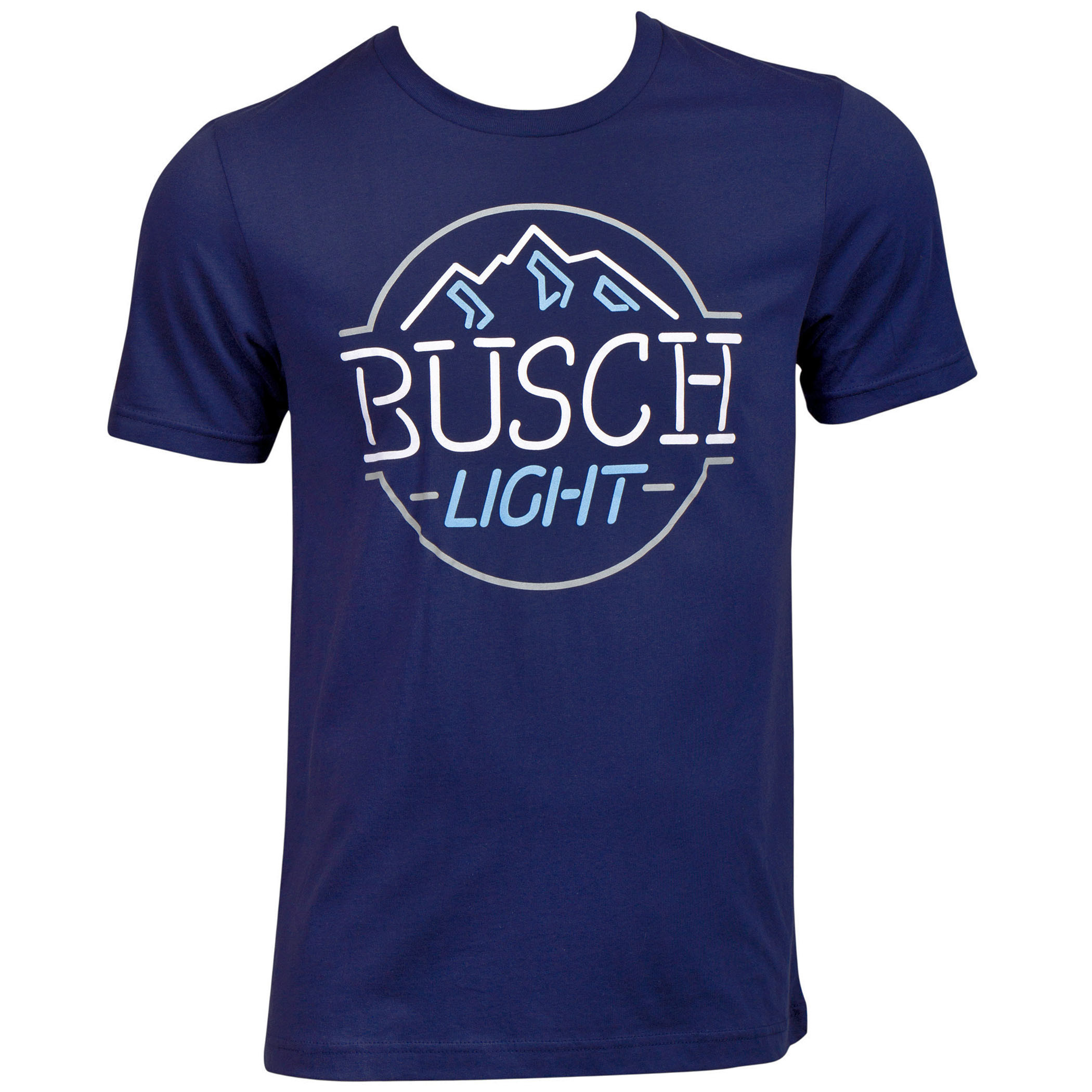 Busch Light Mountain Logo Neon Sign T-Shirt