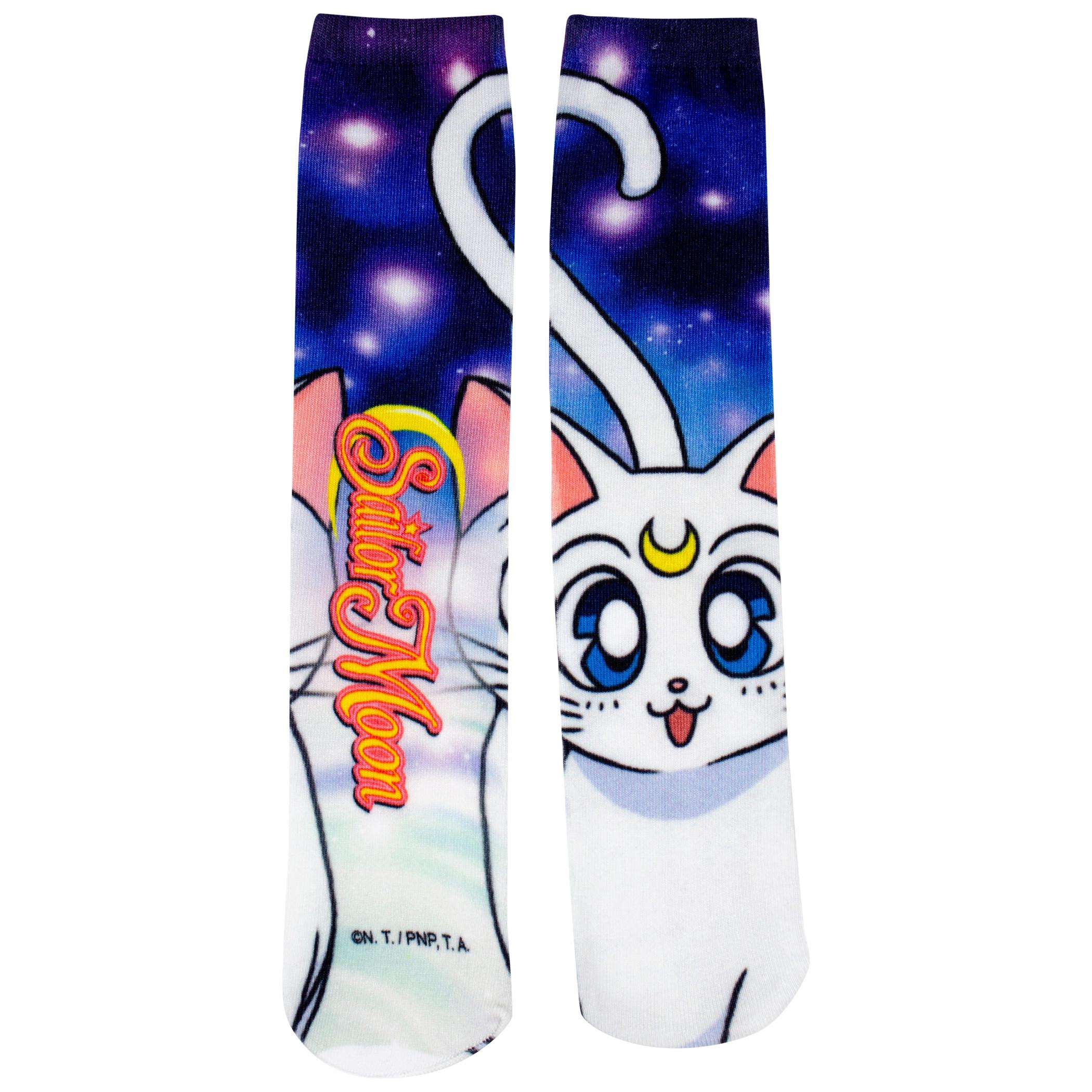 Sailor Moon Artemis 360 Print Crew Socks