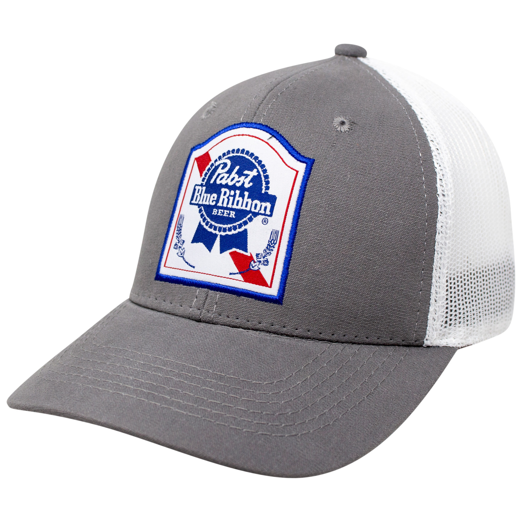 Pabst Blue Ribbon PBR Label Snapback Trucker Hat