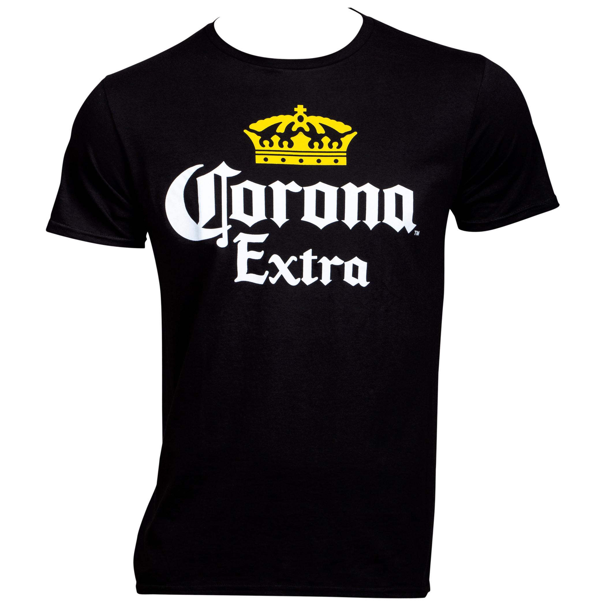Corona Extra Logo Black T-Shirt