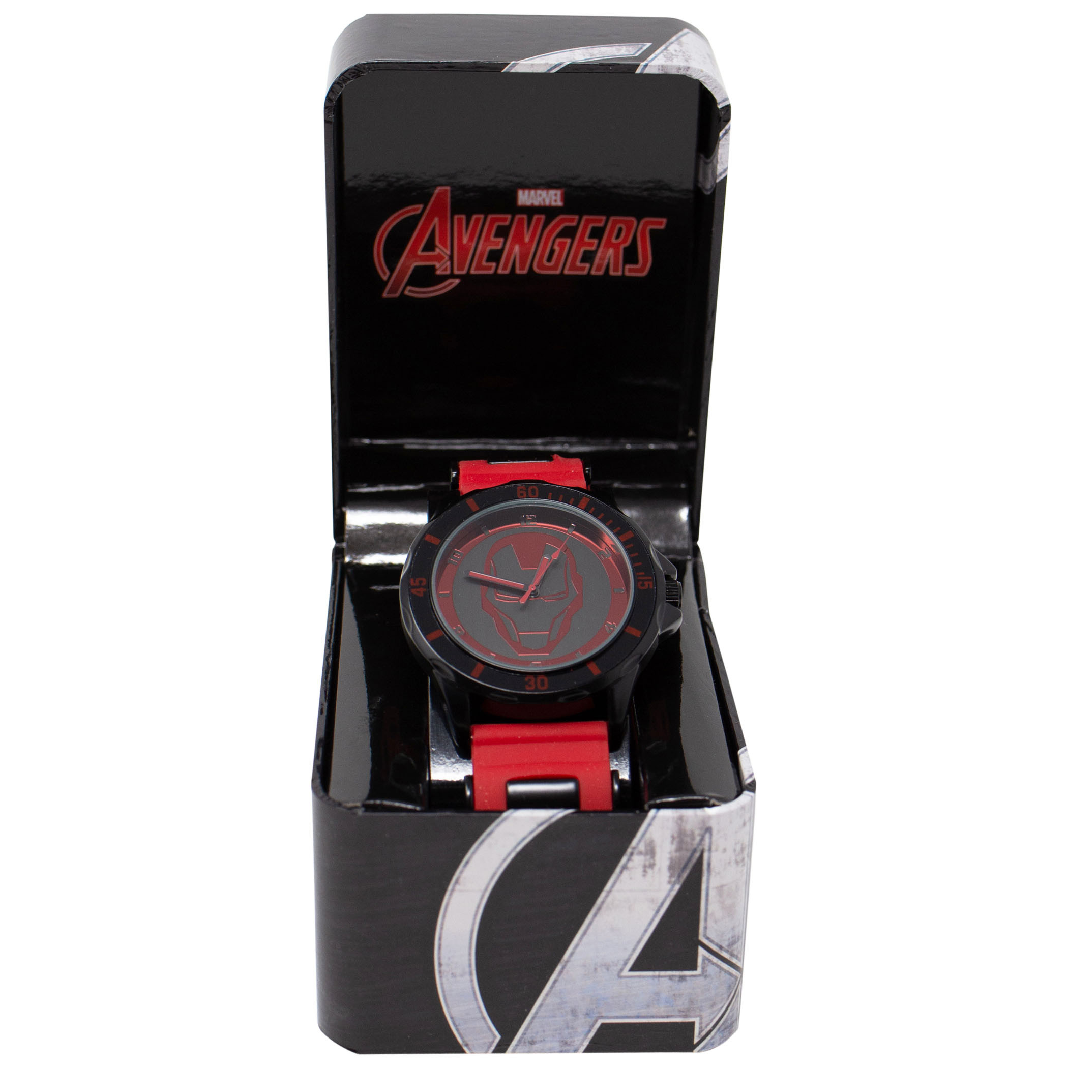 Iron Man Helmet Face Watch with Rubber Wristband