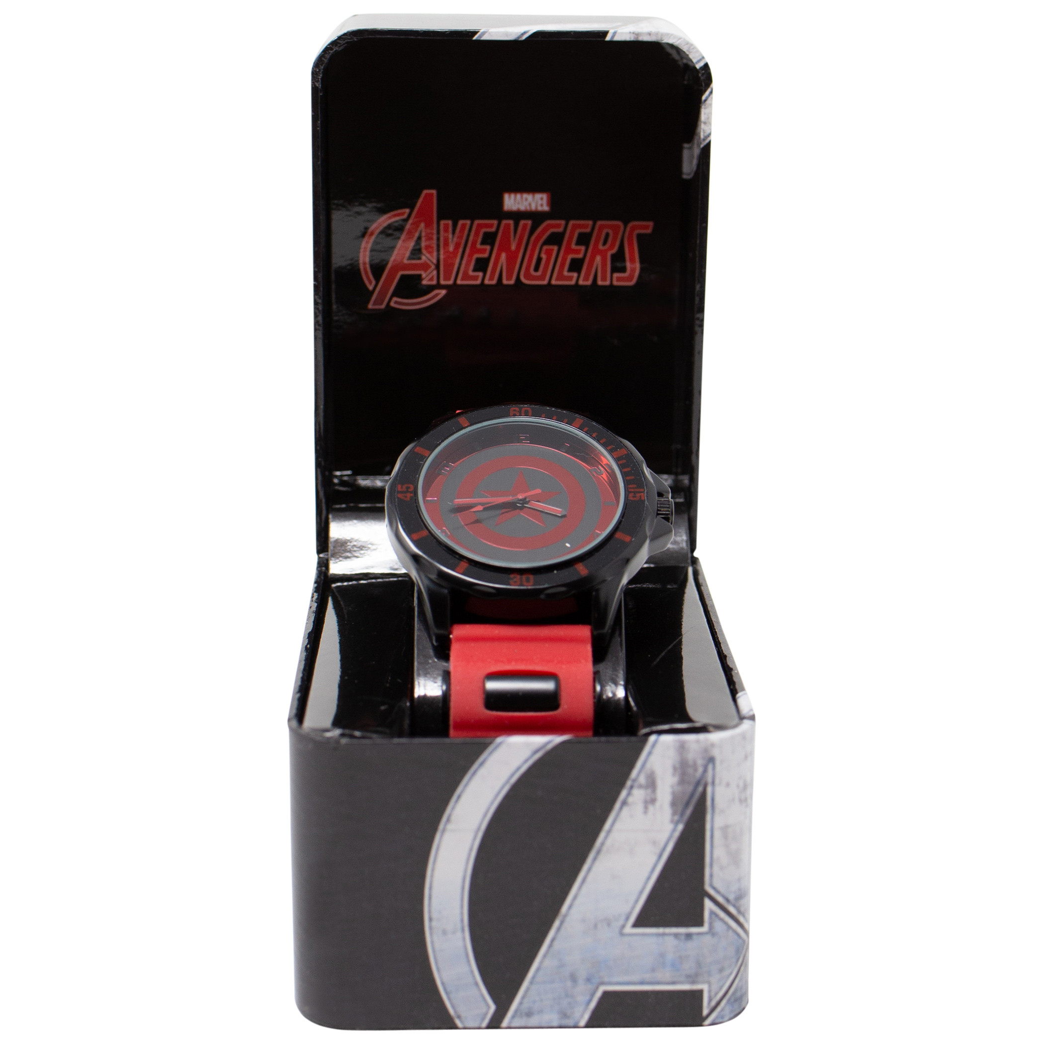 Captain America Red and Black Shield Watch