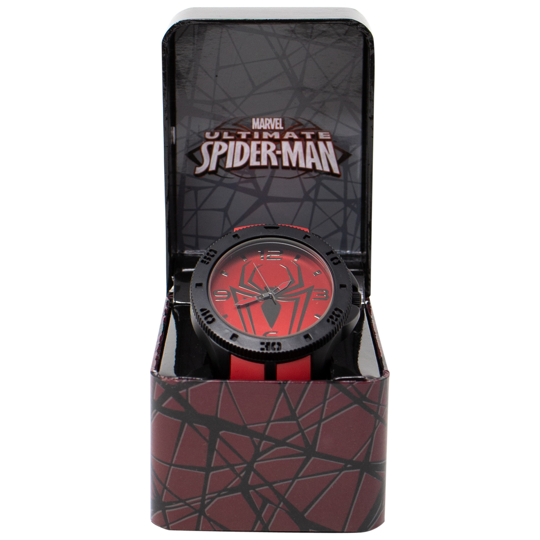 Spider-Man Symbol on Red Watch with Rubber Wristband
