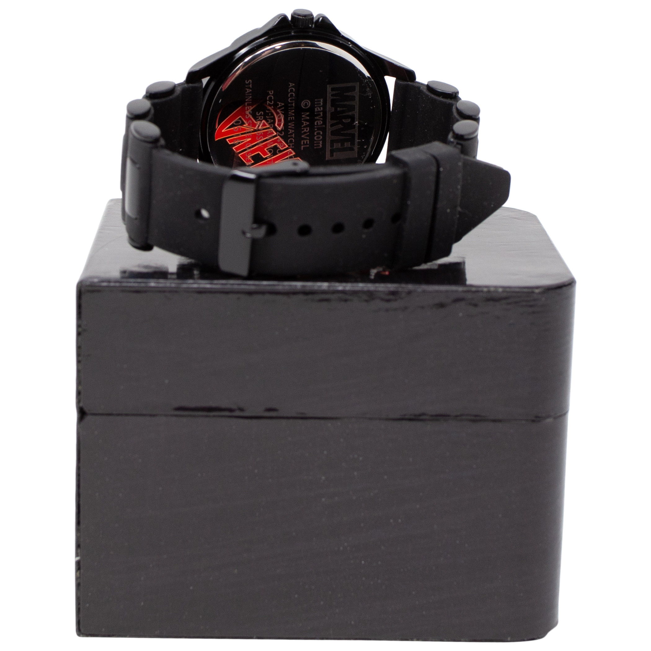 Avengers Silver Symbol Watch with Rubber Wristband