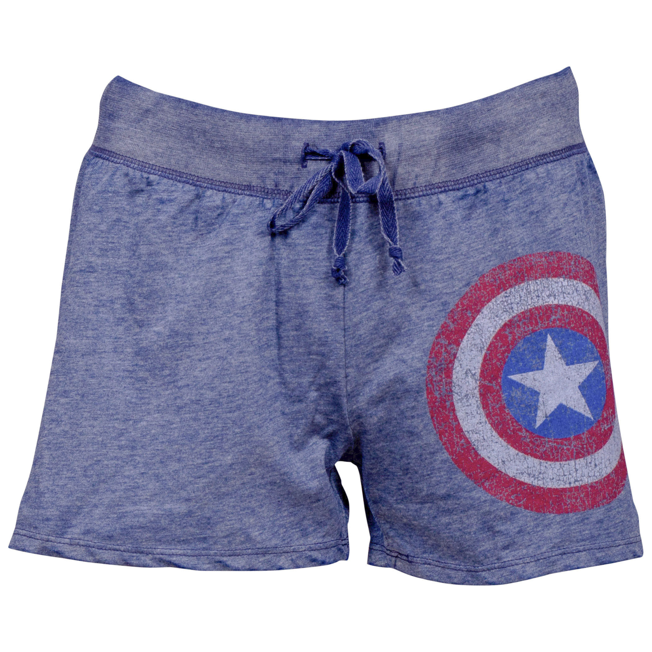 Captain America Symbol Juniors Sleep Shorts
