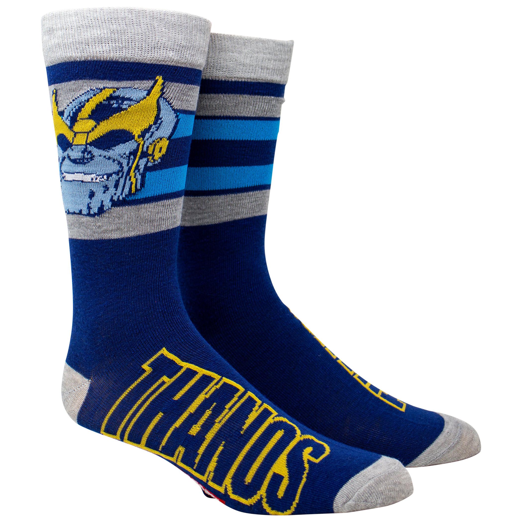 Thanos Vintage Head Crew Socks