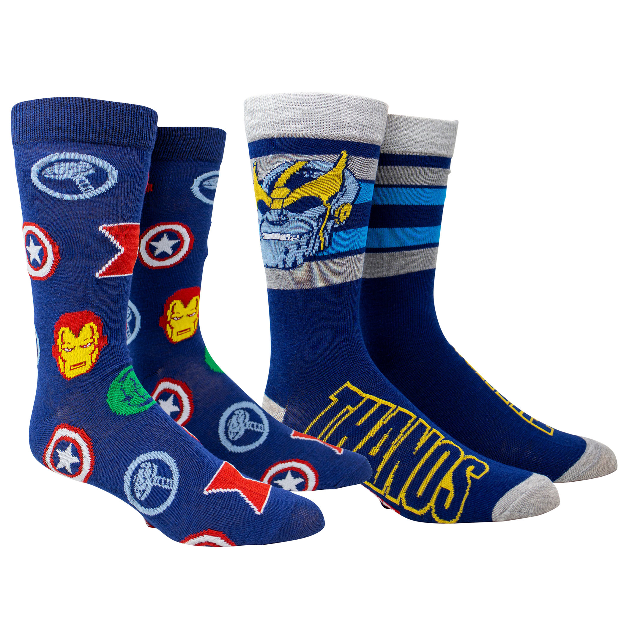 Avengers and Thanos Crew Sock 2-Pack