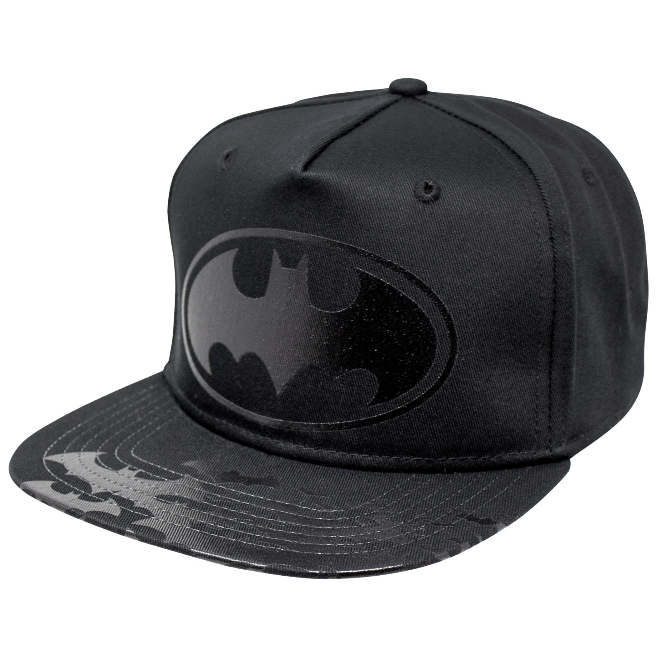 Batman Black Symbol on Black Hat Youth Baseball Hat
