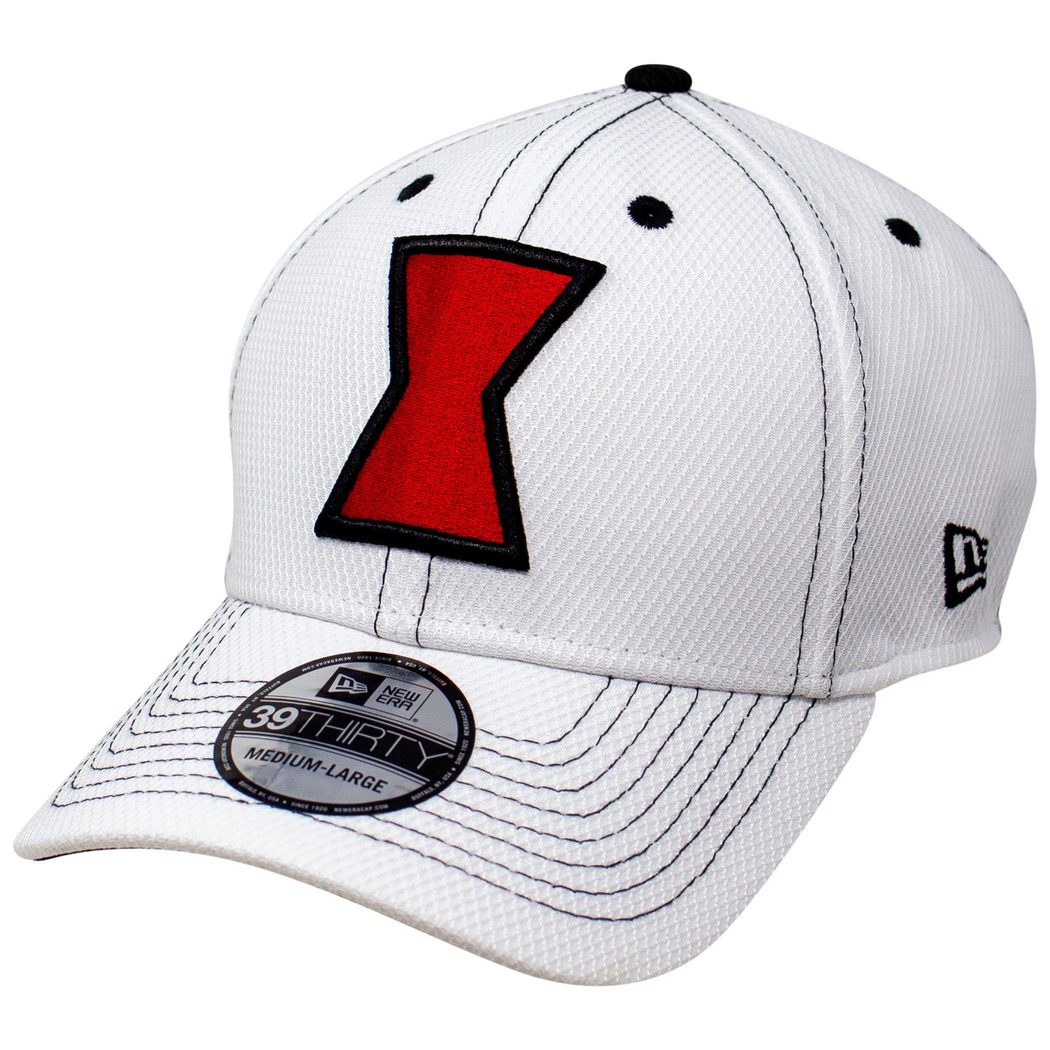 Black Widow Movie White Costume New Era 39Thirty Fitted Hat