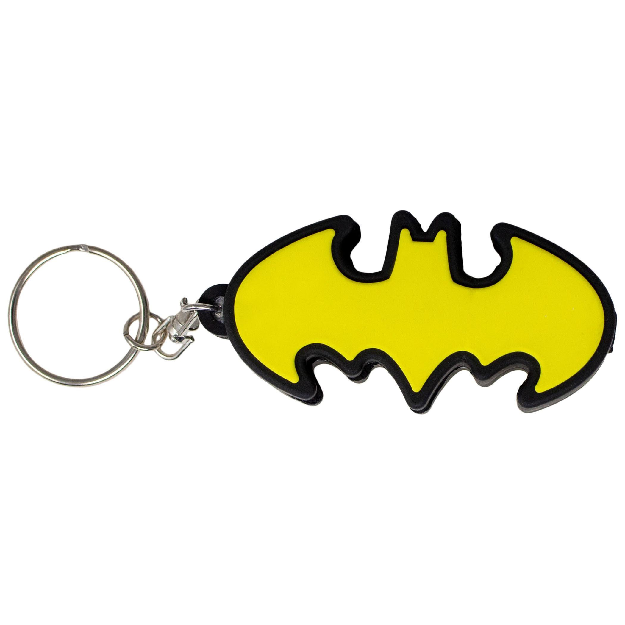 Batman Rubber Molded Projector Flashlight Keychain