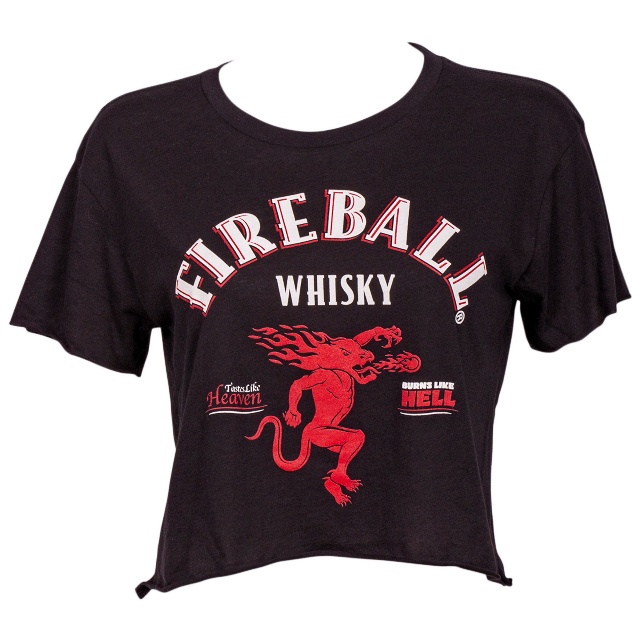 Fireball Whisky Women's Crop Top T-Shirt