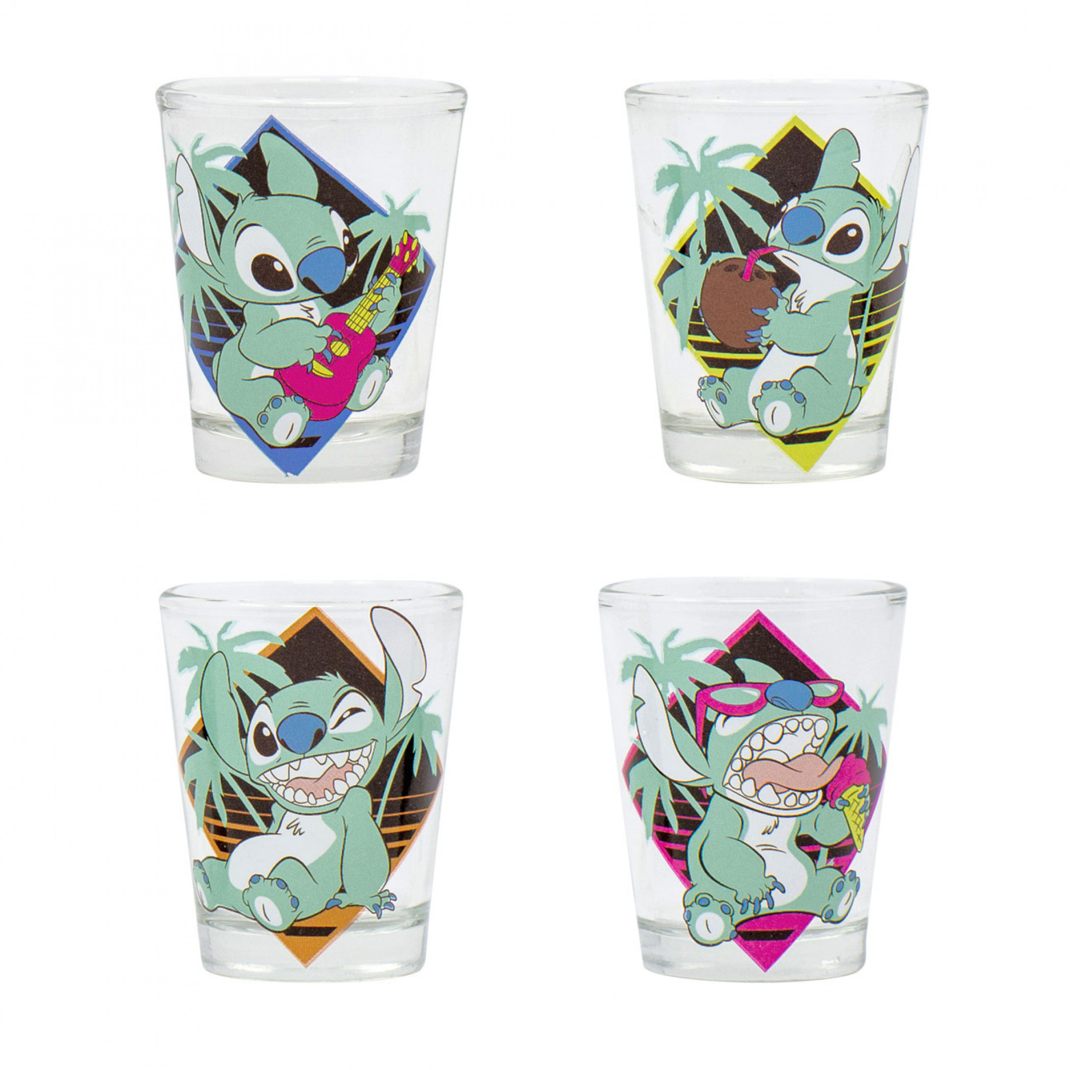 Disney Lilo and Stitch 4-Piece Shot Glass Set