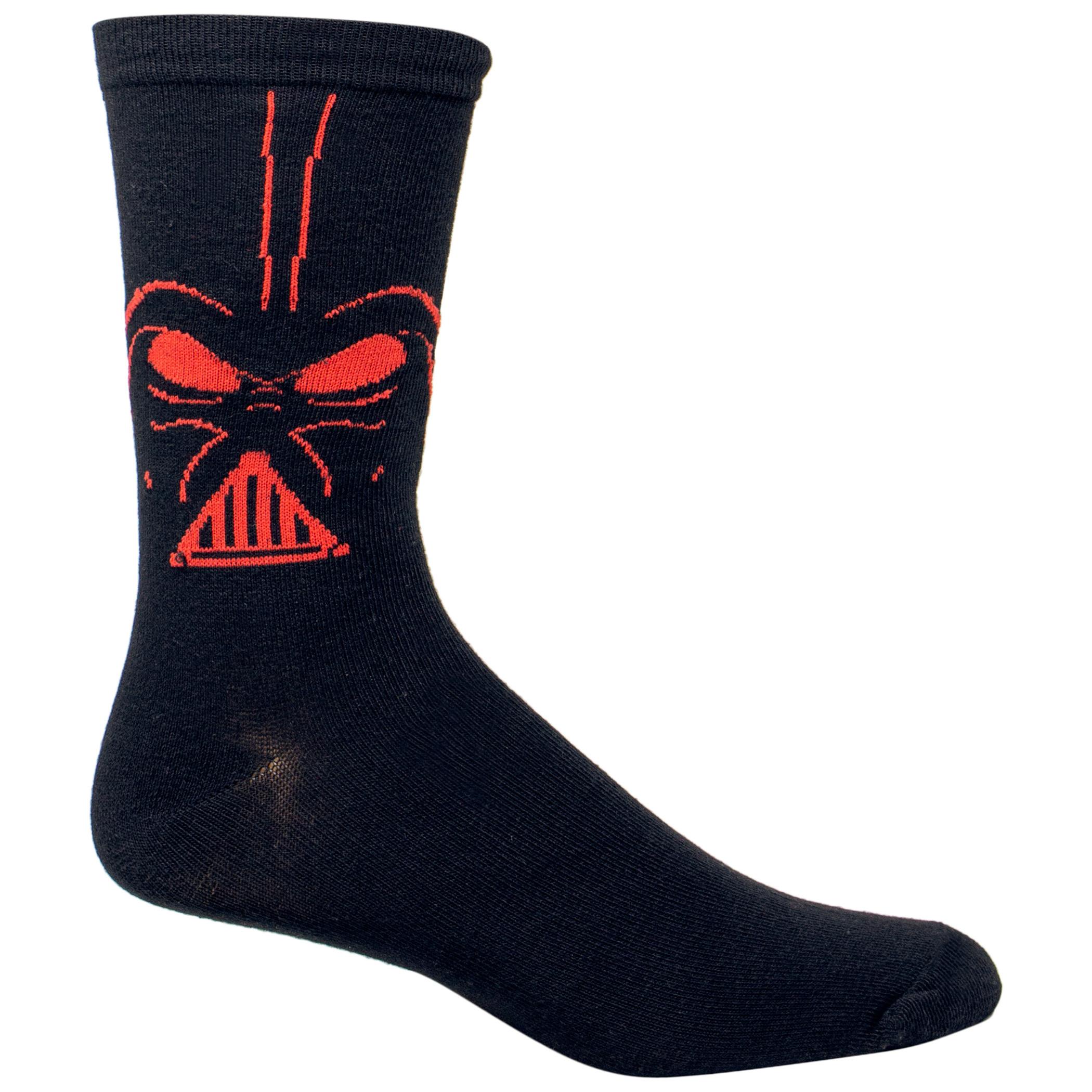 Star Wars Darth Vader Costume Character Crew Socks
