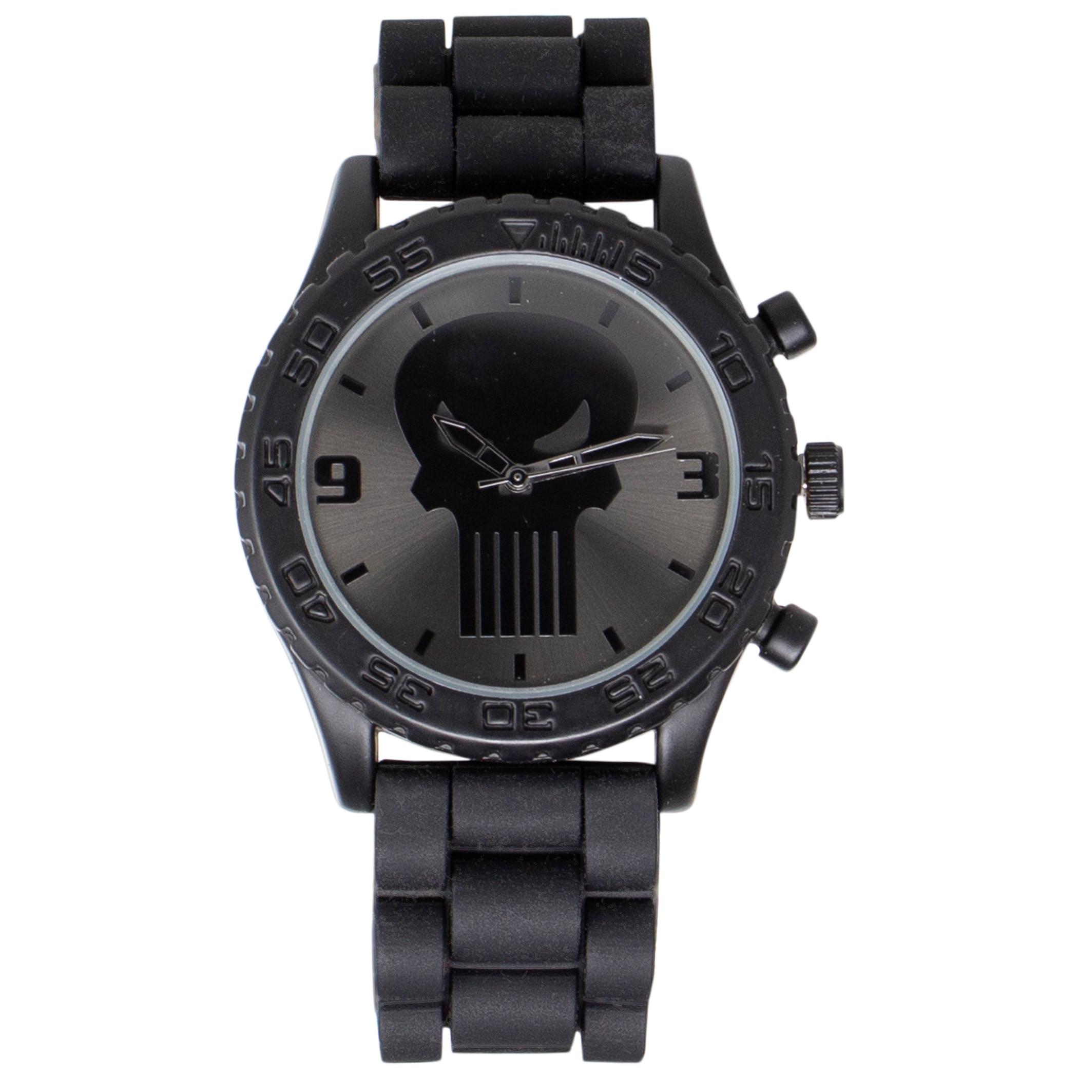 Punisher Dark Skull Symbol Watch