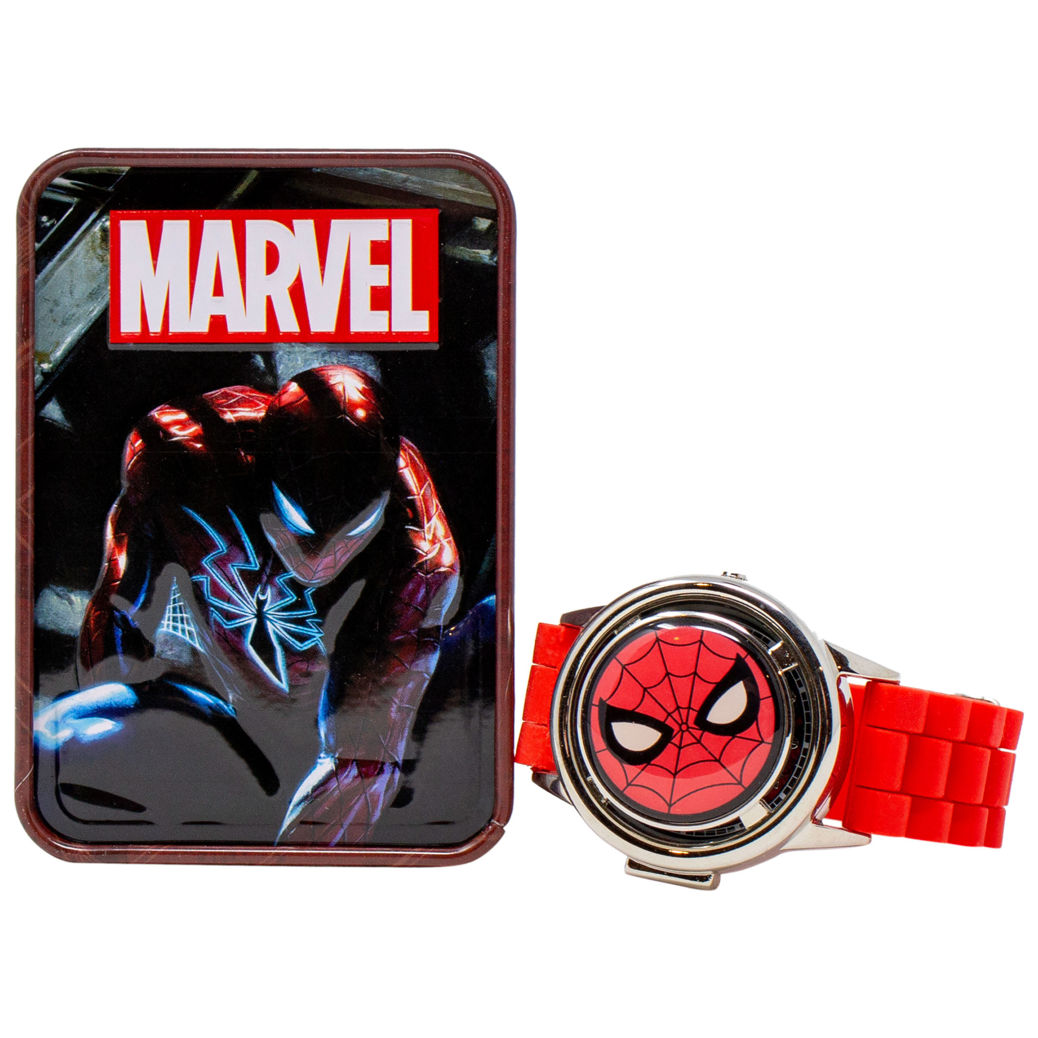 Spider-Man Mask Logo Watch with Spinning Cover