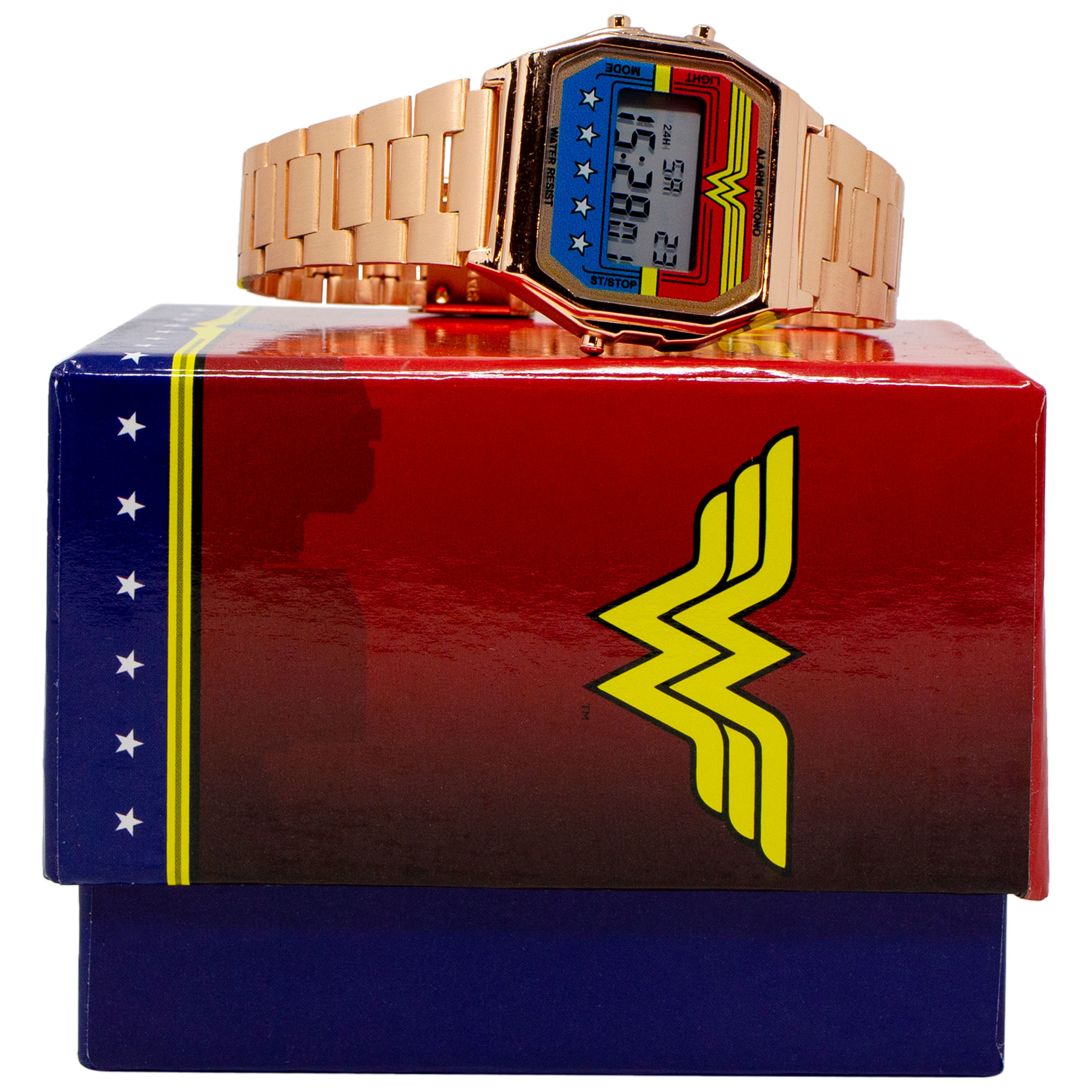 Wonder Woman Digital Watch with Gold Alloy Band