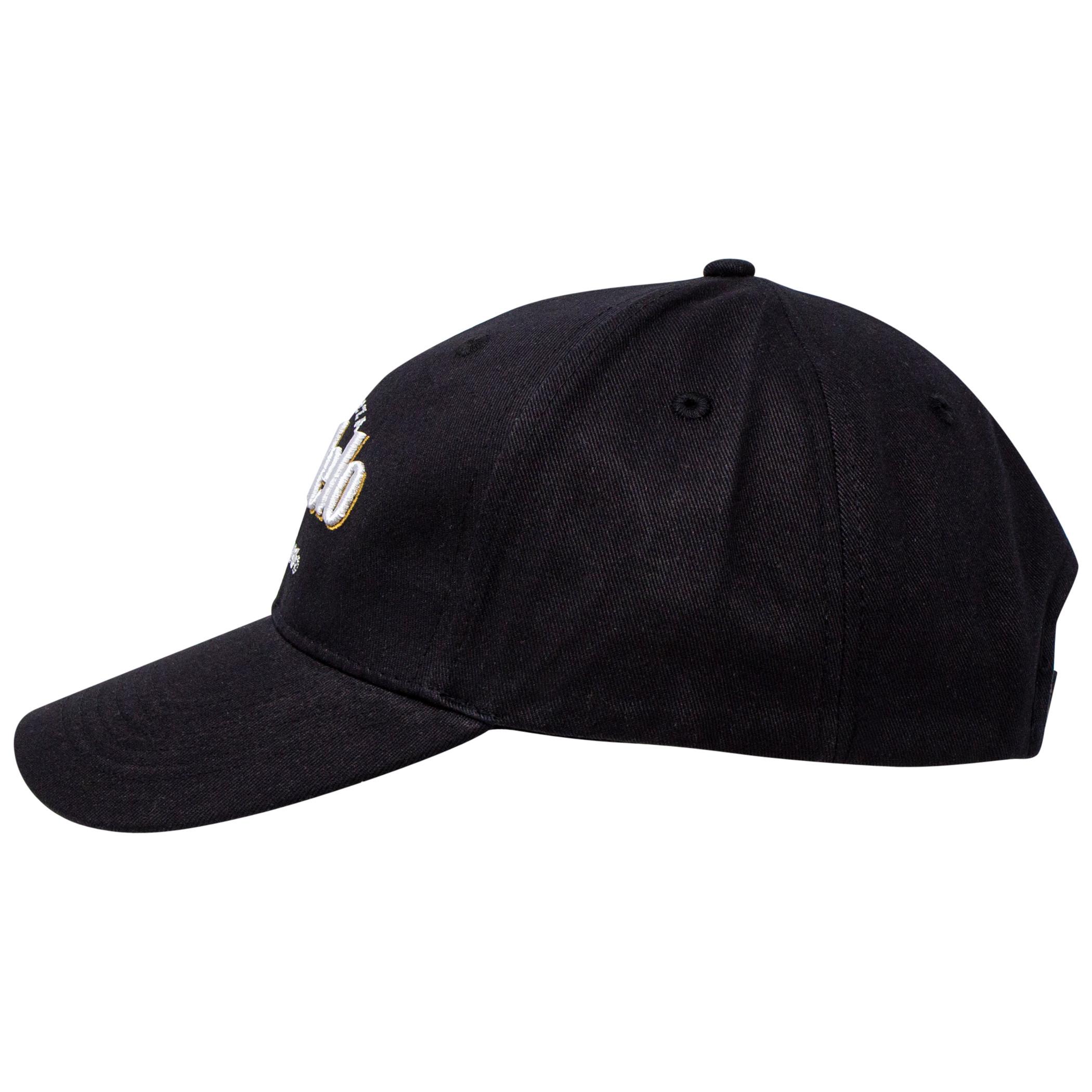 Modelo Negra Black and White Adjustable Strapback Hat