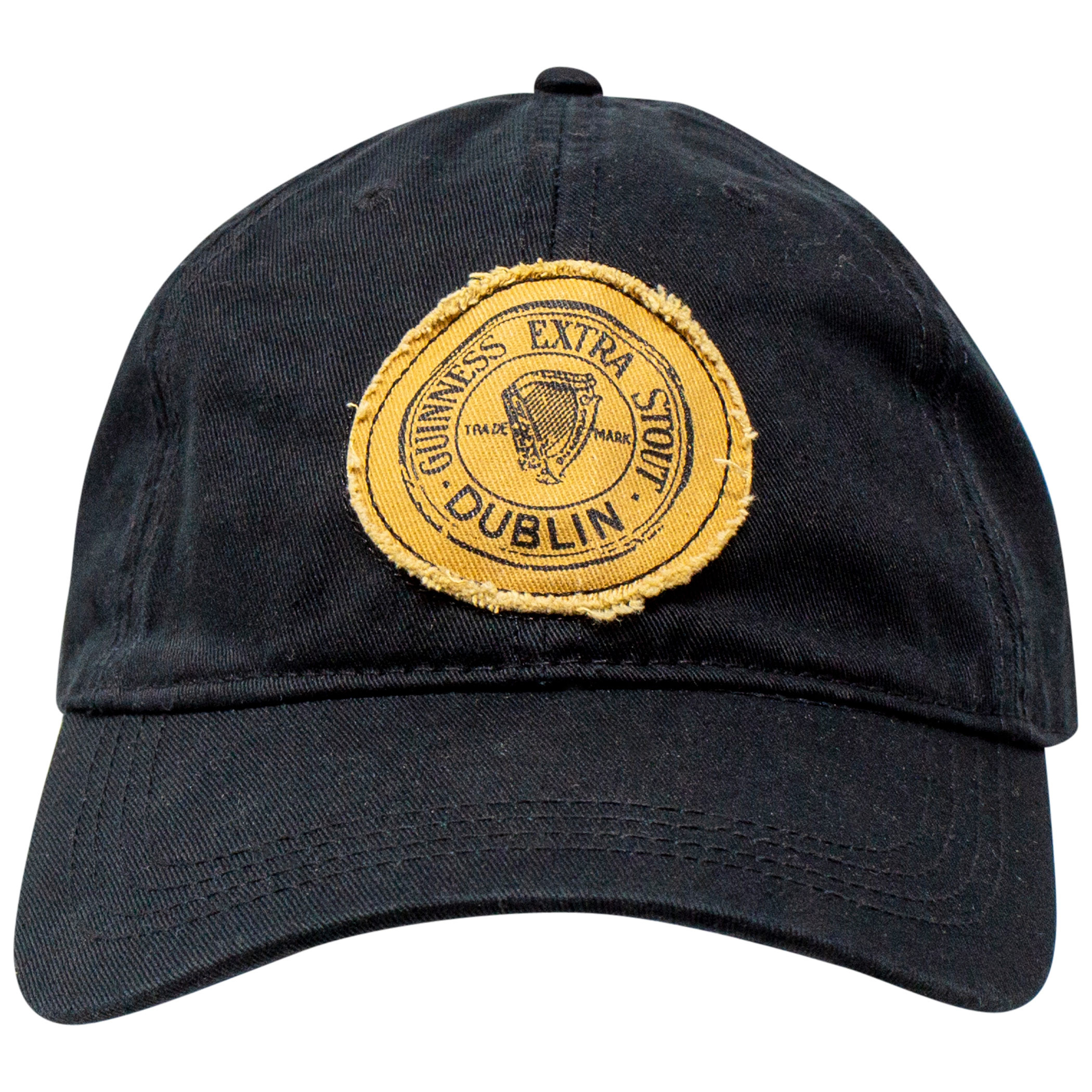 Guinness Black Extra Stout Distressed Patch Adjustable Hat