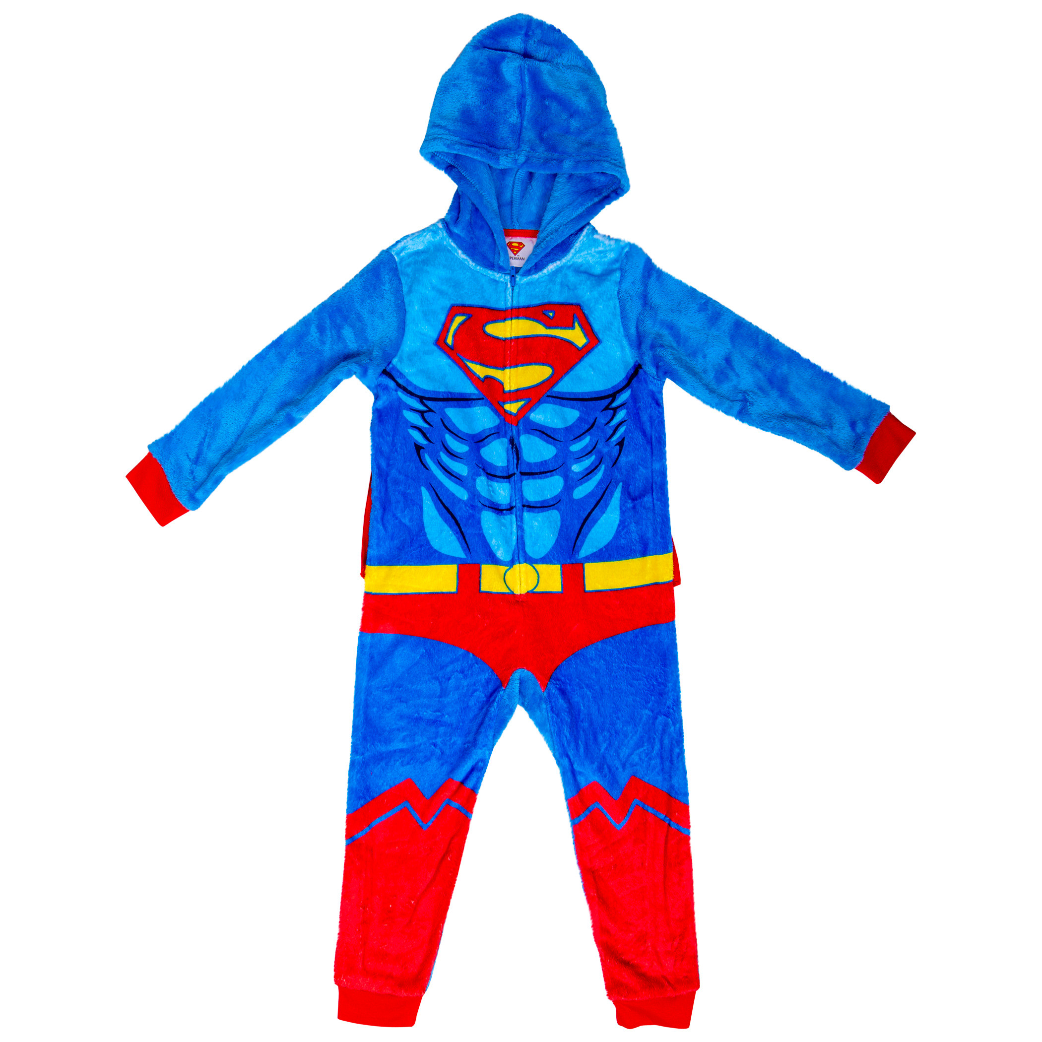 Superman Costume Kids Union Suit with Removable Velcro Cape
