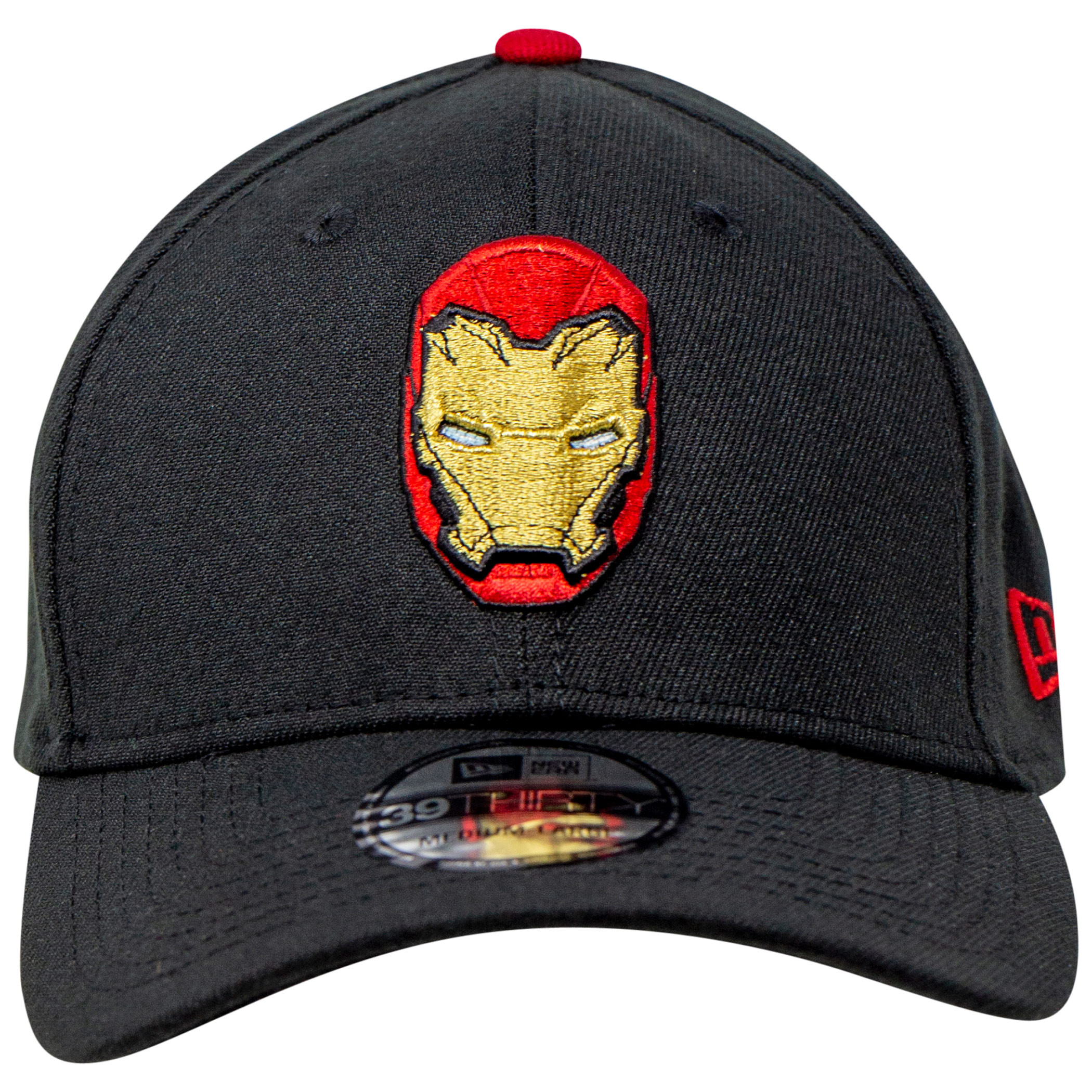 Iron Man Helmet with Rear Arc Reactor New Era 39Thirty Fitted Hat