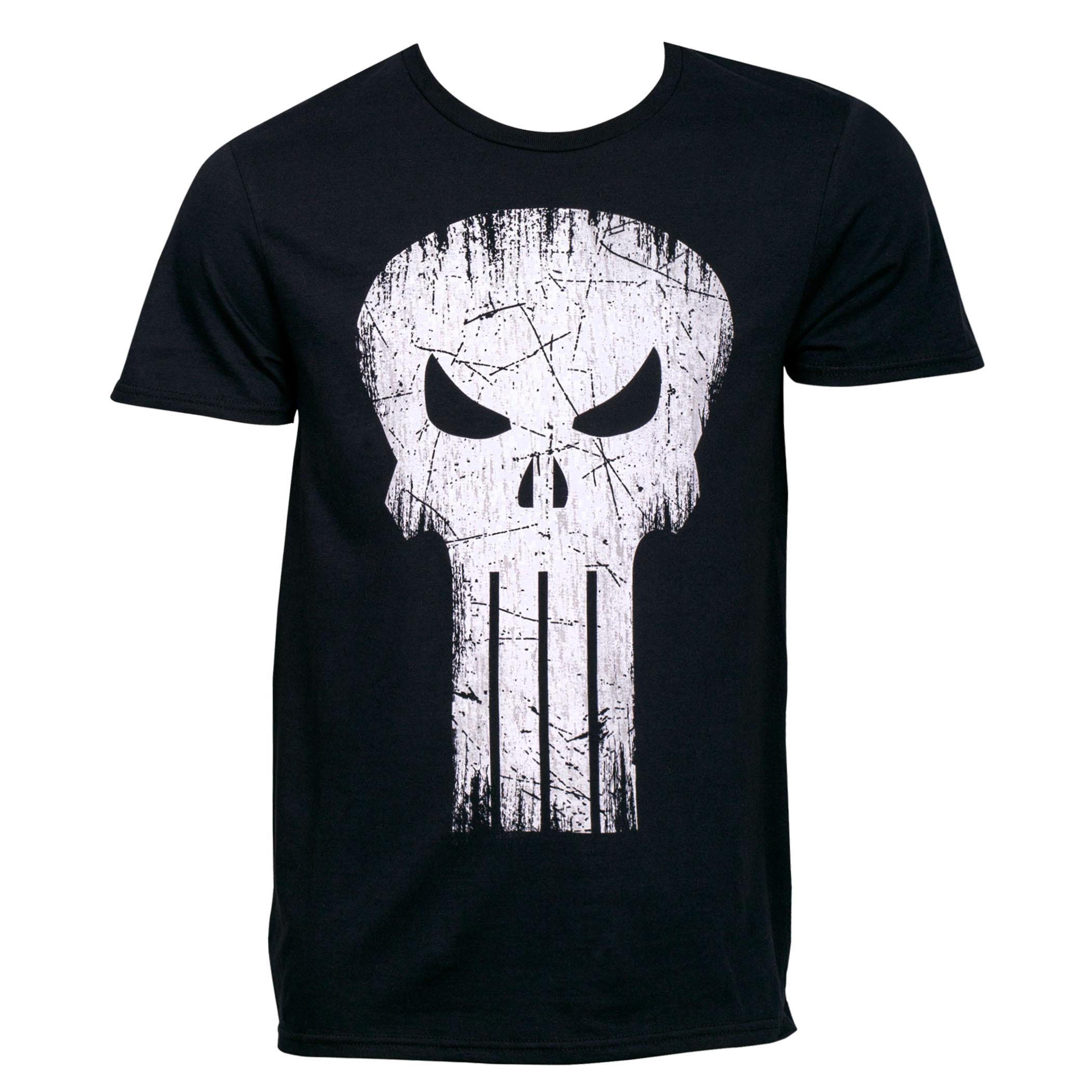 Punisher Skull Distressed Logo T-Shirt