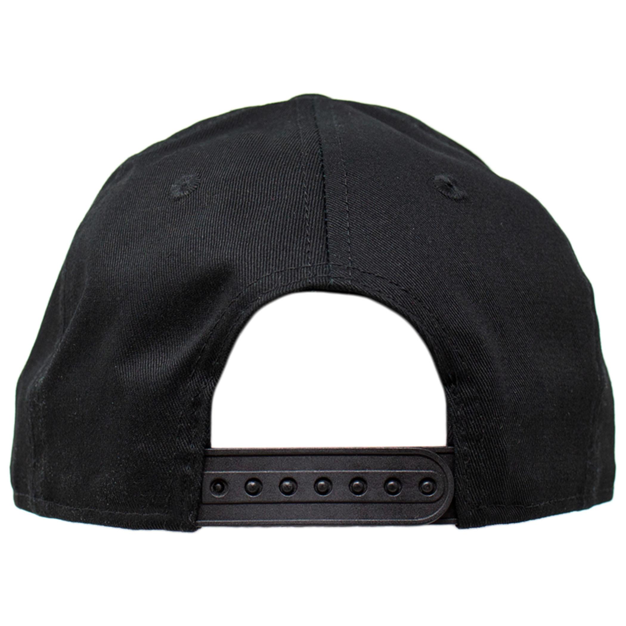 Punisher Symbol Black on Black New Era 9Fifty Adjustable Hat