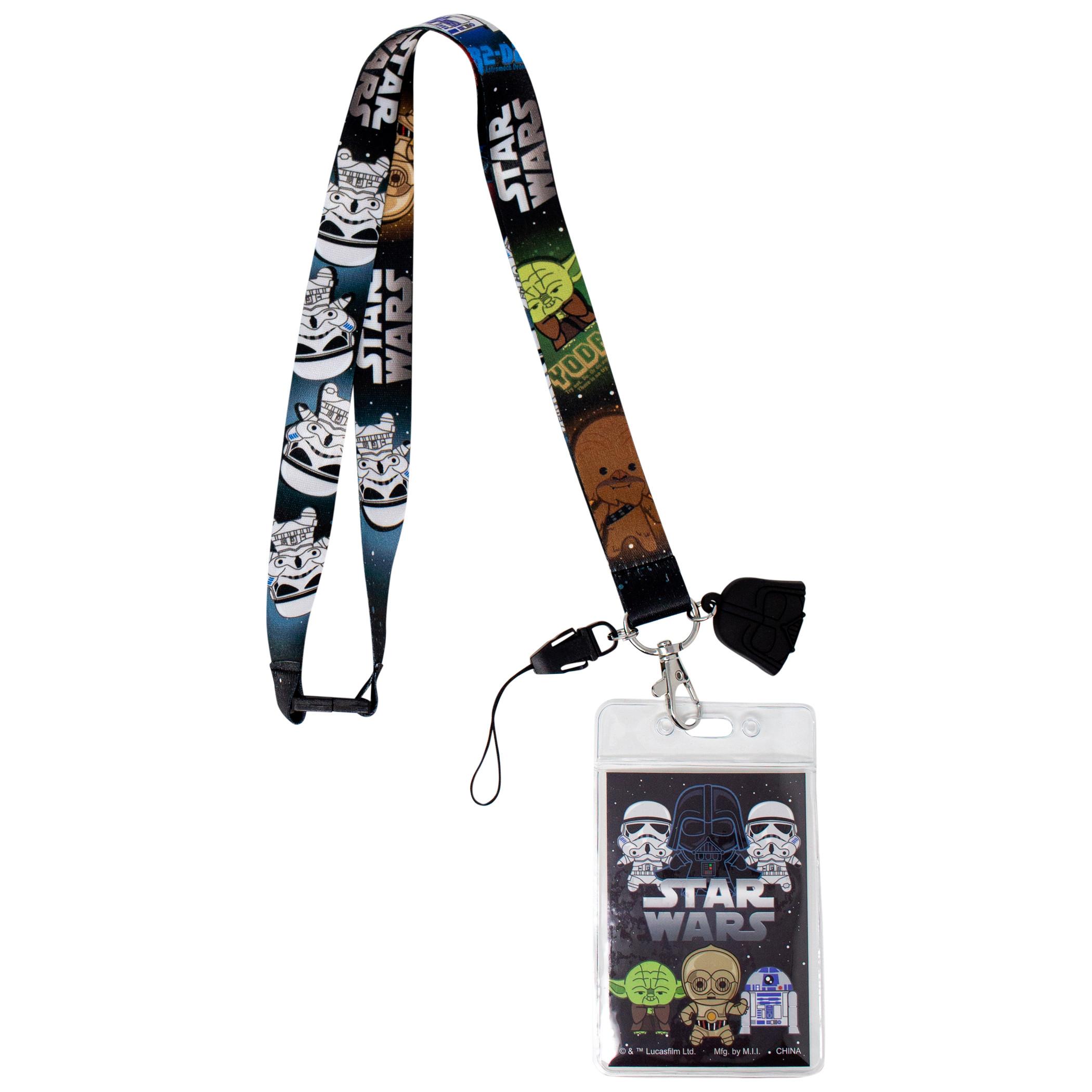 Star Wars Darth Vader Lanyard with ID Badge Holder and Dangle