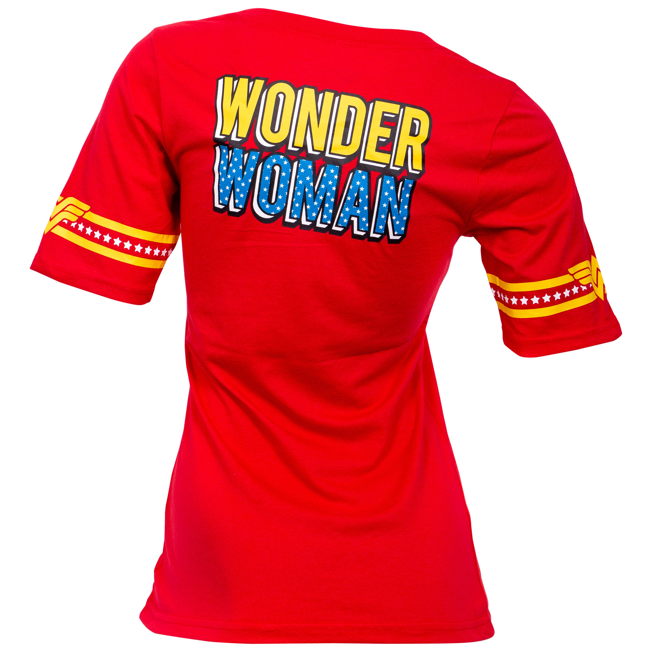 Wonder Woman Lasso Front and Back Print Women's T-Shirt
