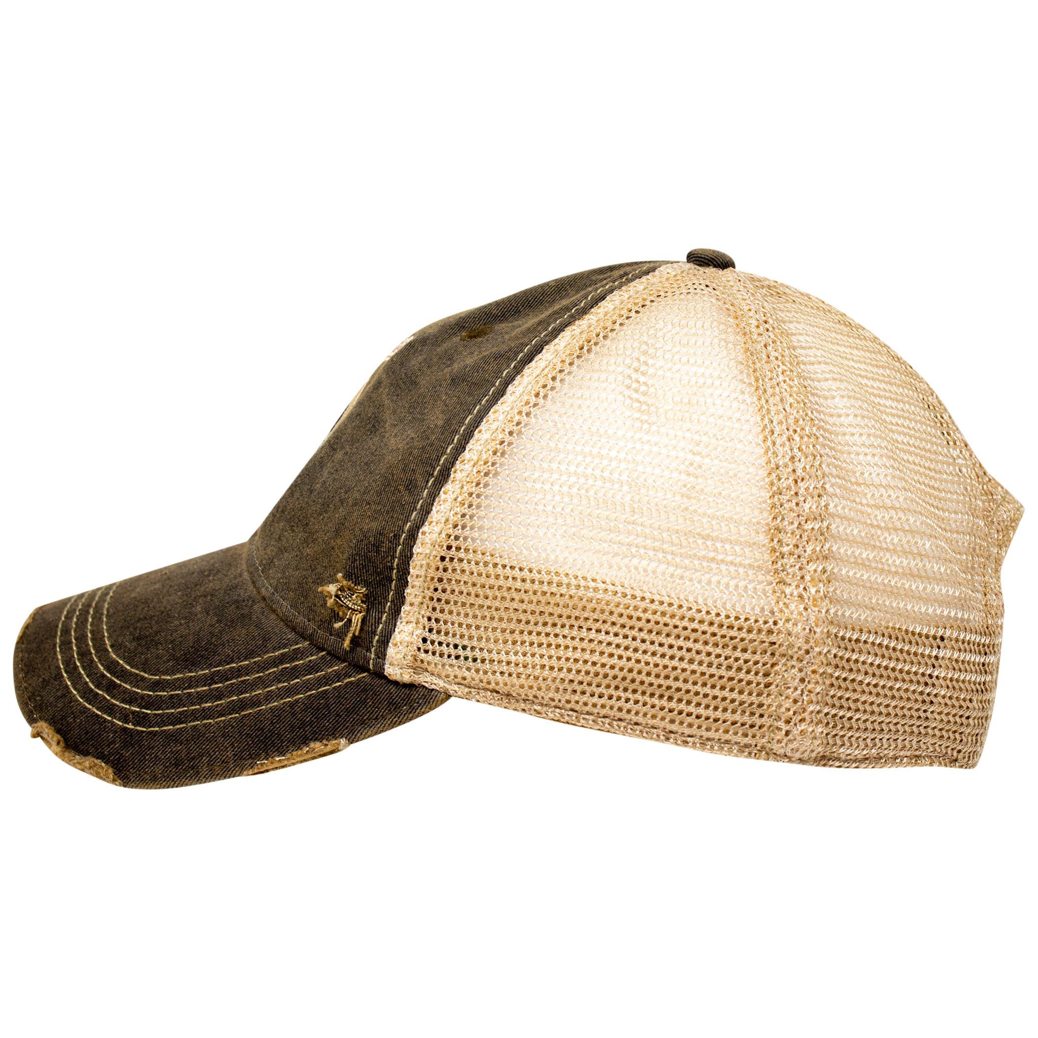 Miller High Life Girl In The Moon Black Adjustable Mesh Trucker Hat