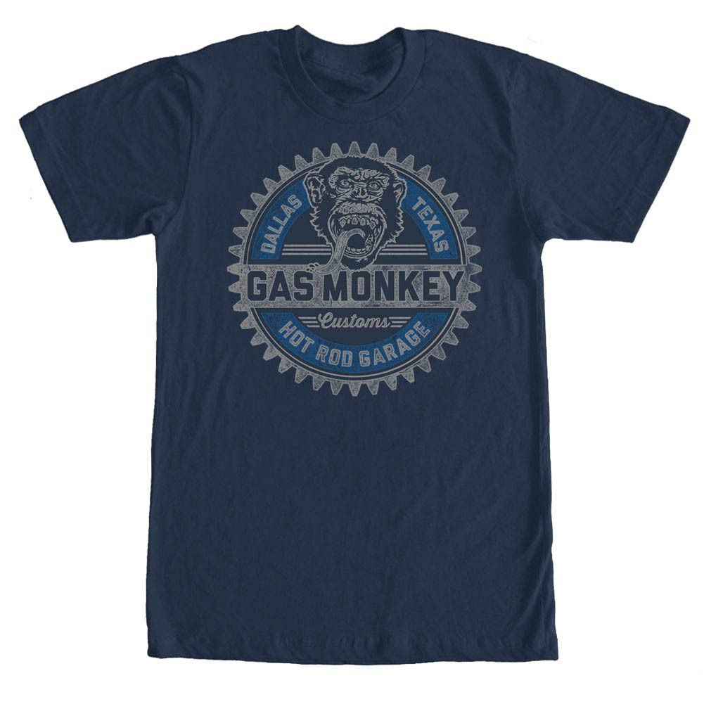 Gas Monkey Garage Geared Up Blue T-Shirt
