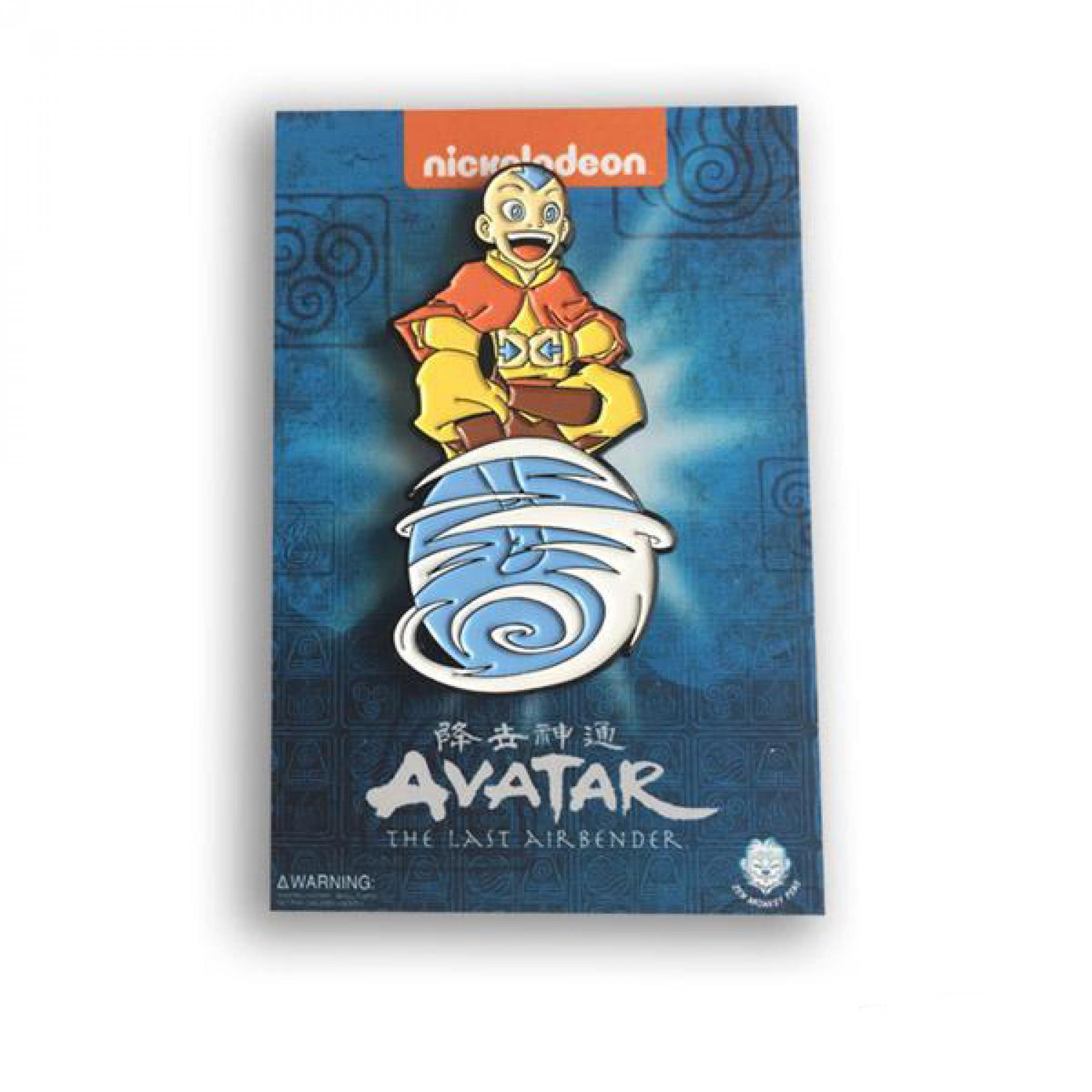 Avatar: The Last Airbender Aang on Air Scooter Enamel Pin