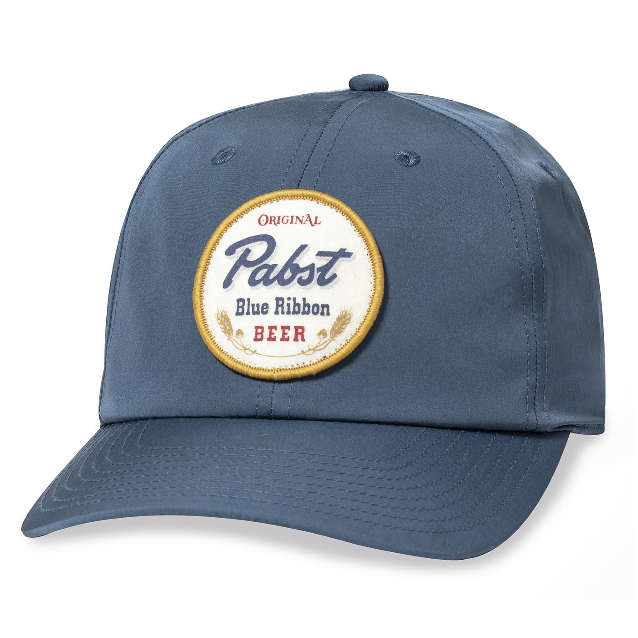 Original Pabst Blue Ribbon Beer Patch Adjustable Blue Snapback Hat